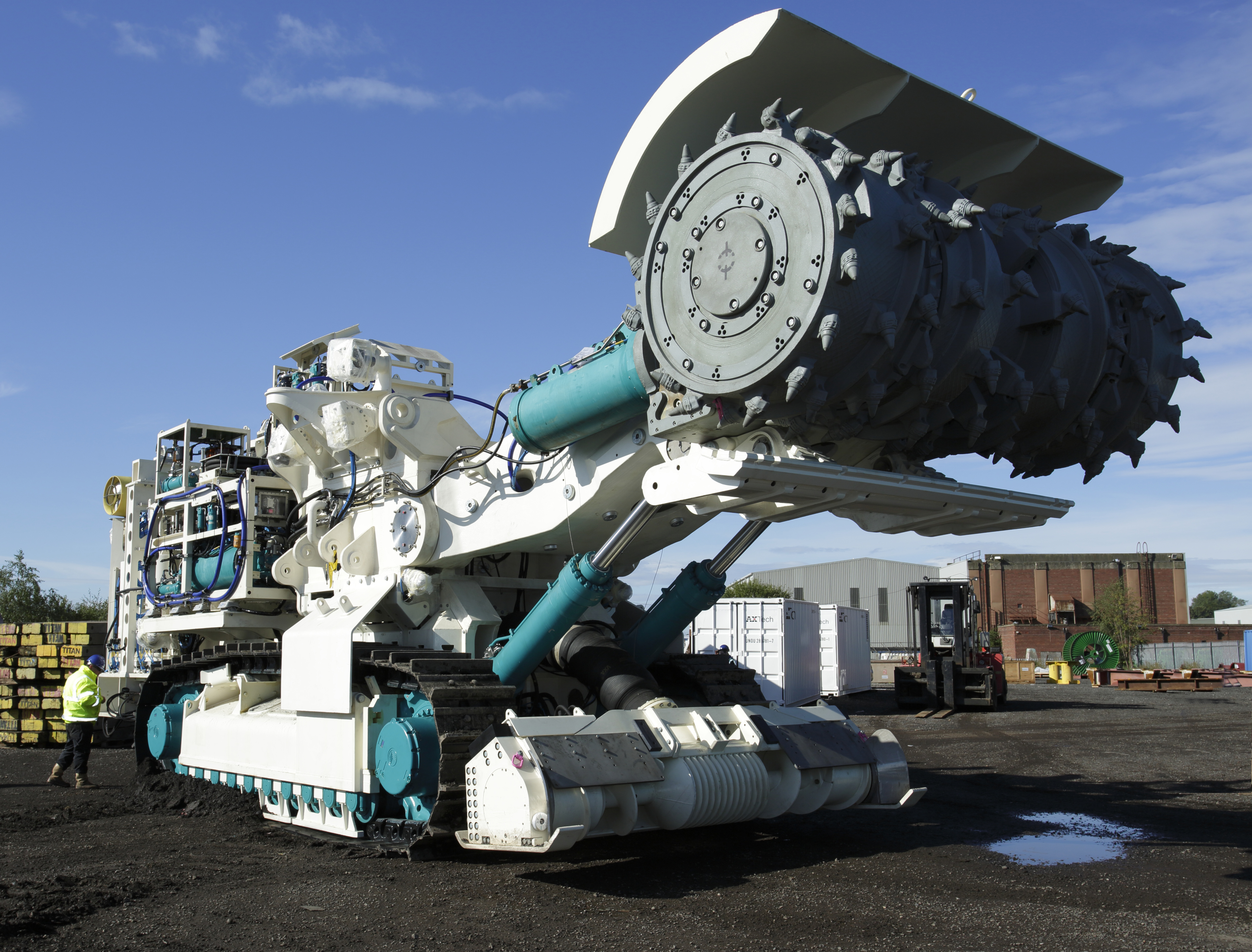 A bulk cutter like this will help Nautilus Minerals mine the seabed off the shore of Papua New Guinea. (Nautilus Minerals)