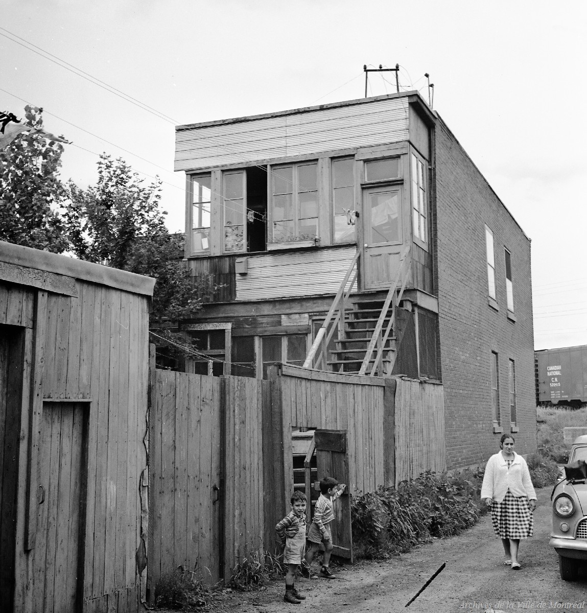 About 300 families lived in Goose Village in the 1960s. (Flickr/Archives de Montréal)