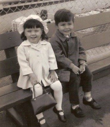A young Gord Loverin with his sister. (Submitted by Gord Loverin)