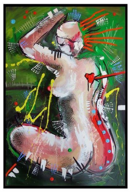 La femme électrique, 36 x 24'' acrylic on canvas 2015. (Mélissa Deschênes)