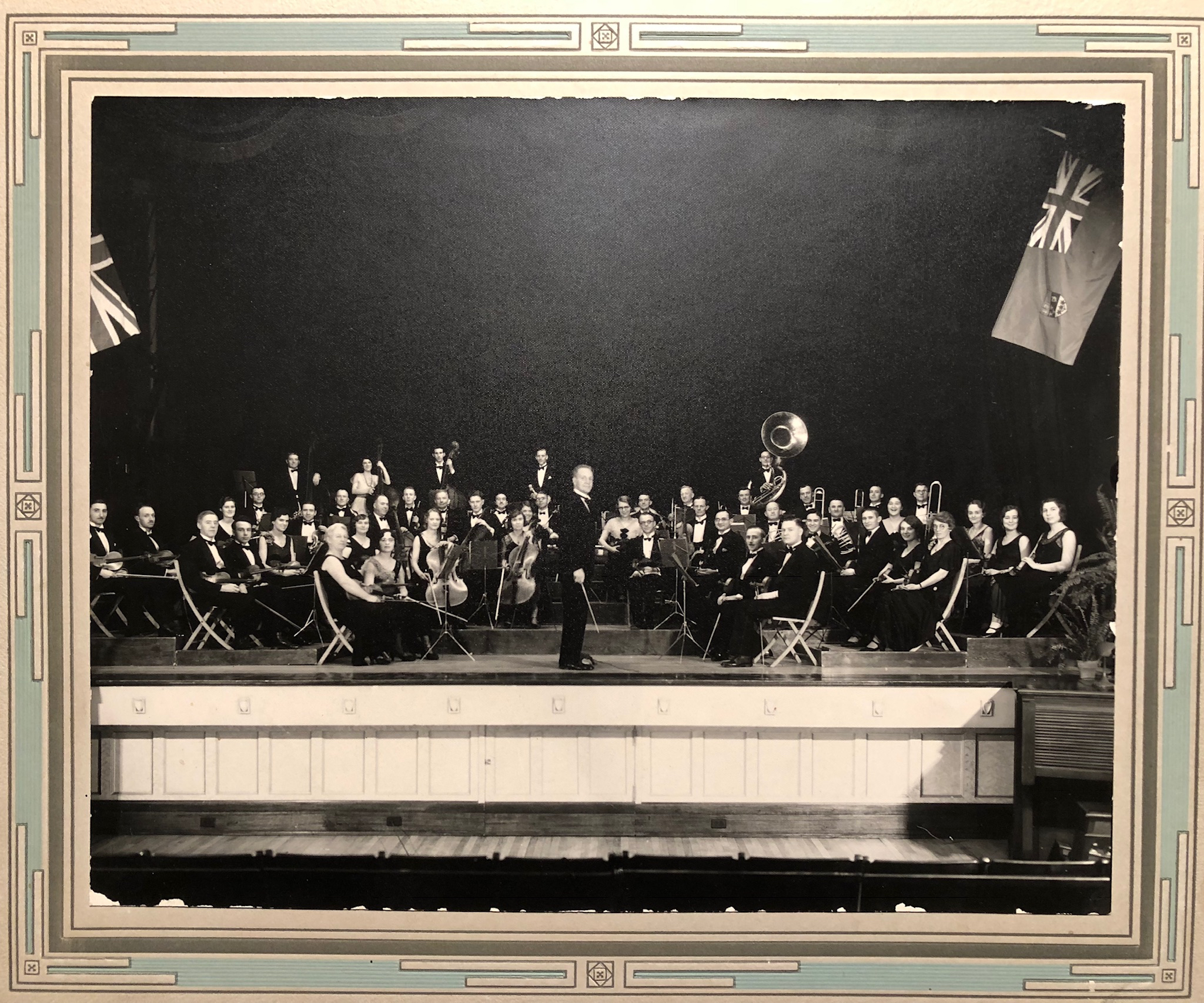 Musicians seen performing at Darke Hall in this 1929 photo. (RSO Archives)