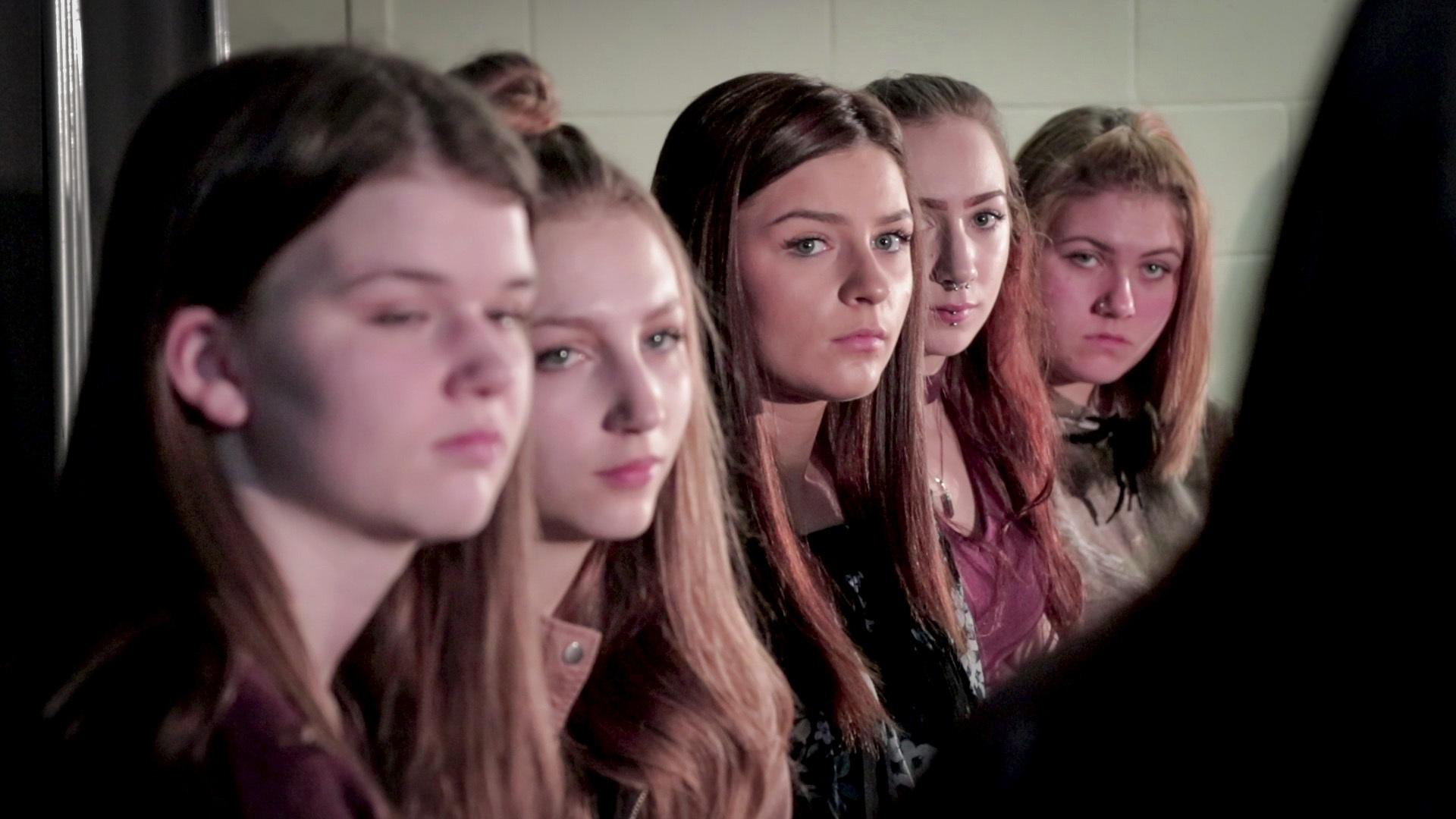 Members of Girl on Fire club at Sackville High in Lower Sackville, N.S. (Steve Berry/CBC)