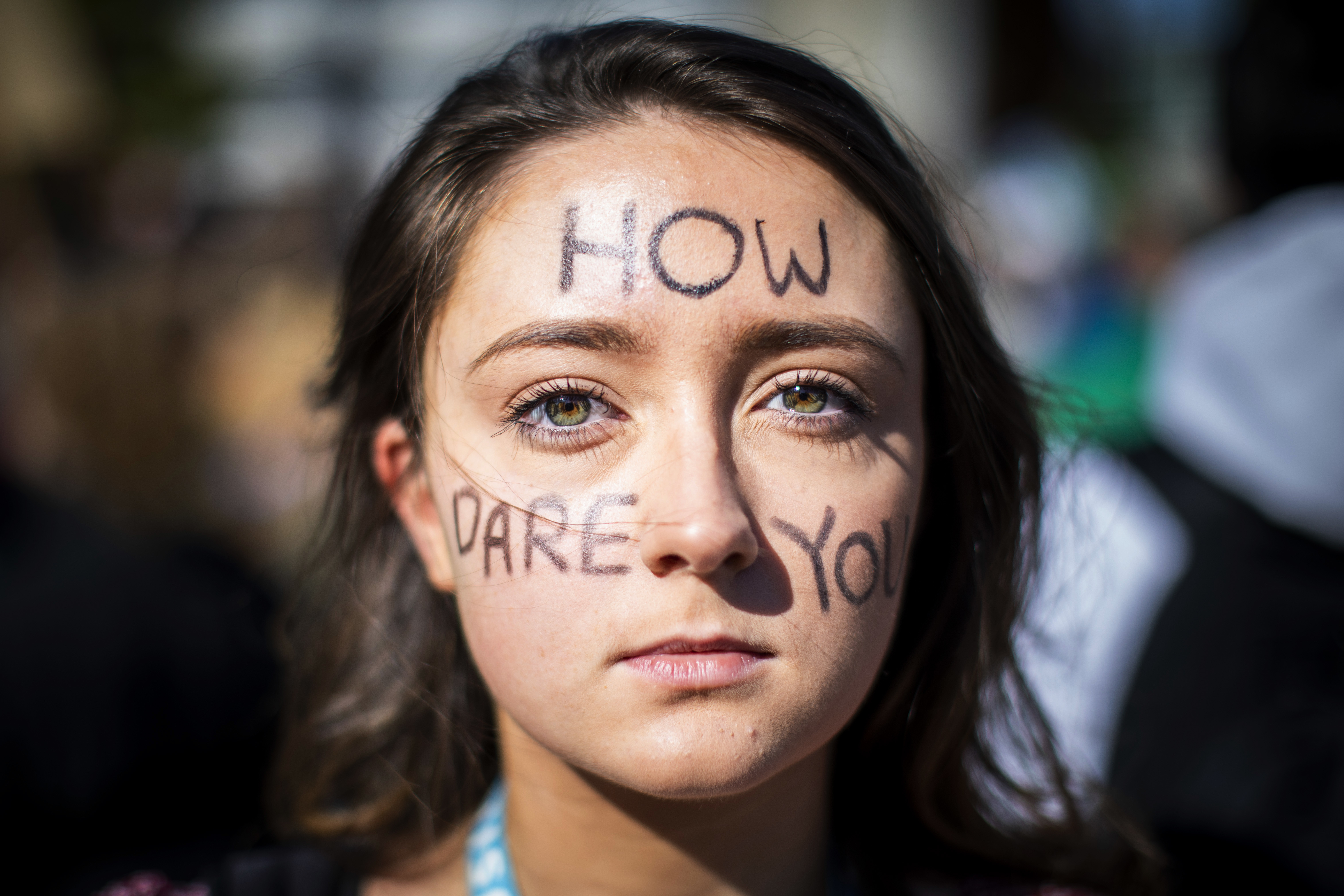 UBC student Heidi Collie, 18, participates in a climate strike on UBC's campus in Vancouver on Friday, Sept. 27, 2019. (Ben Nelms/CBC)