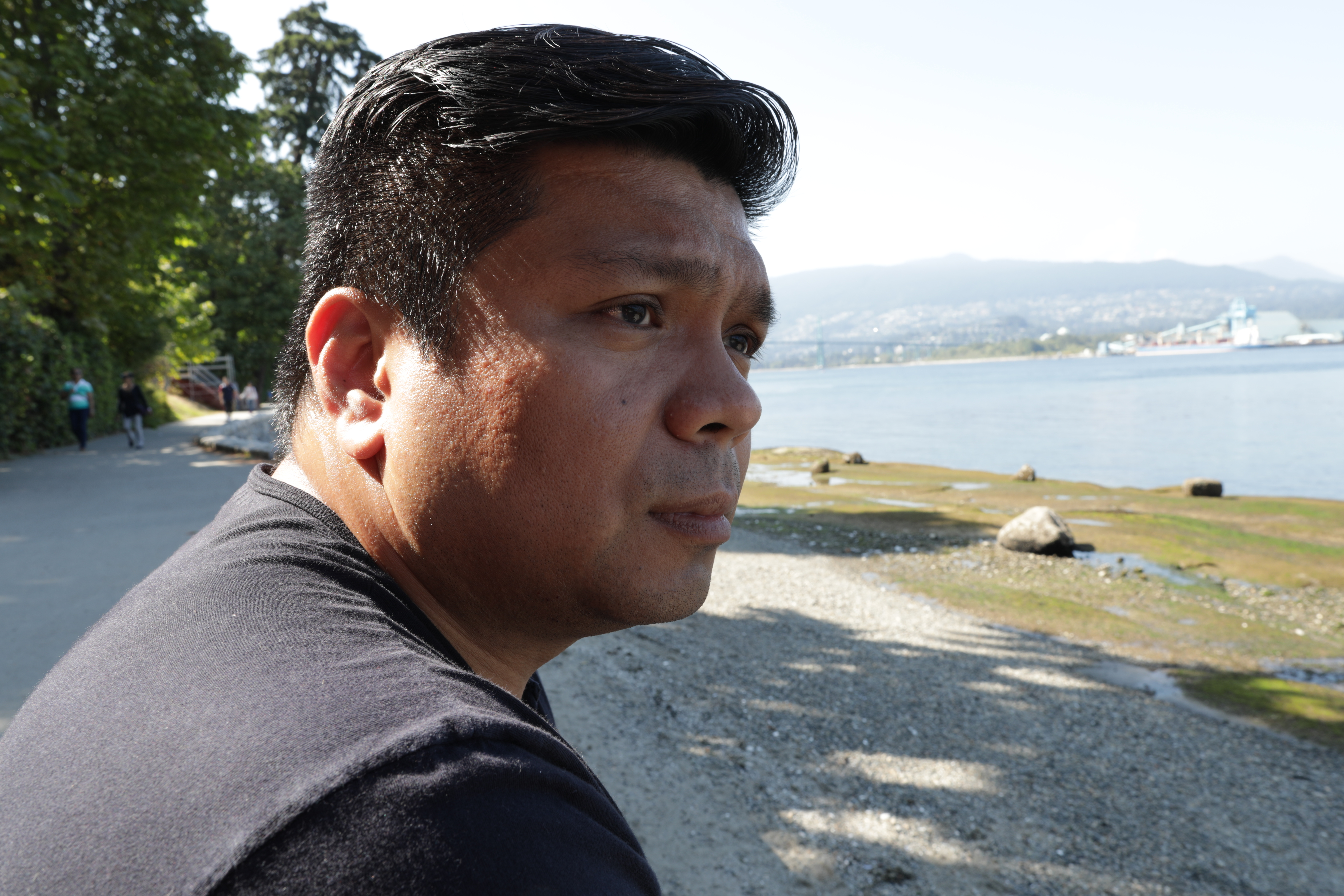 Lowell Menorca escaped to Canada more than two years ago from the Philippines. (CBC)