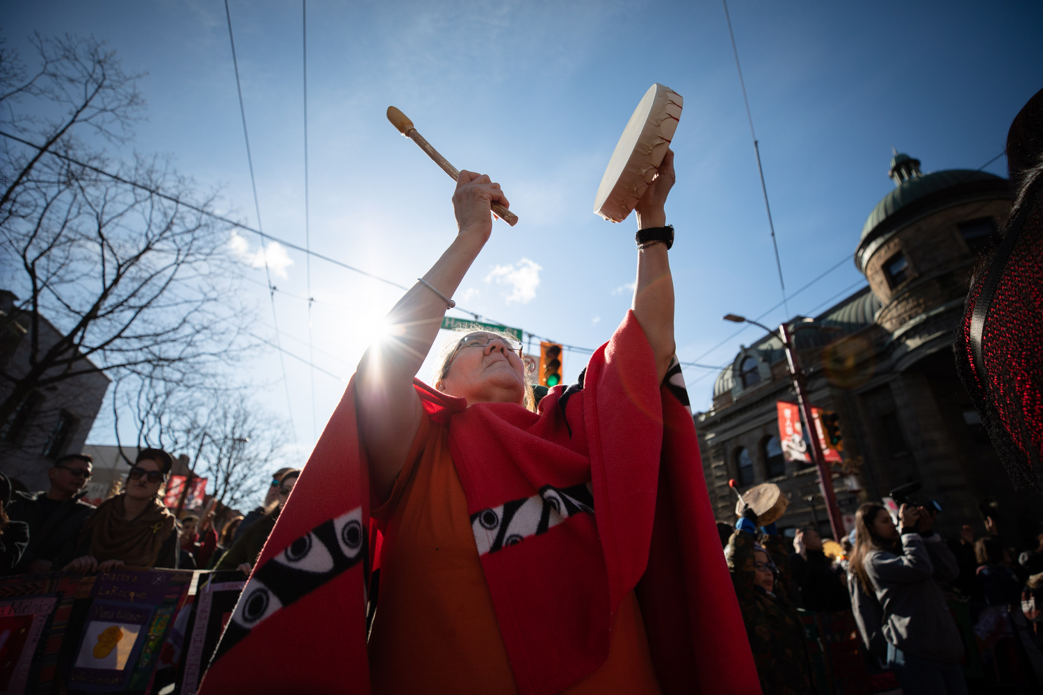The 29th annual Feb. 14 Women's Memorial March to honour the memory of all women from the Downtown Eastside who have died due to physical, mental, emotional and spiritual violence in Vancouver. (Maggie MacPherson/CBC Vancouver)