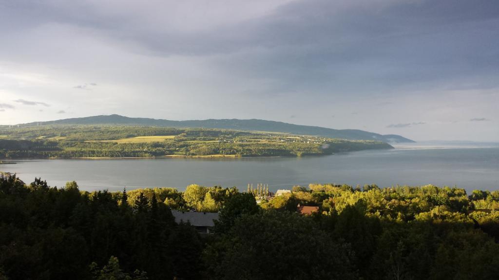 The view from Mélissa Deschênes's home in La Malbaie, in the Charlevoix region of Quebec.(Josée Deschênes)