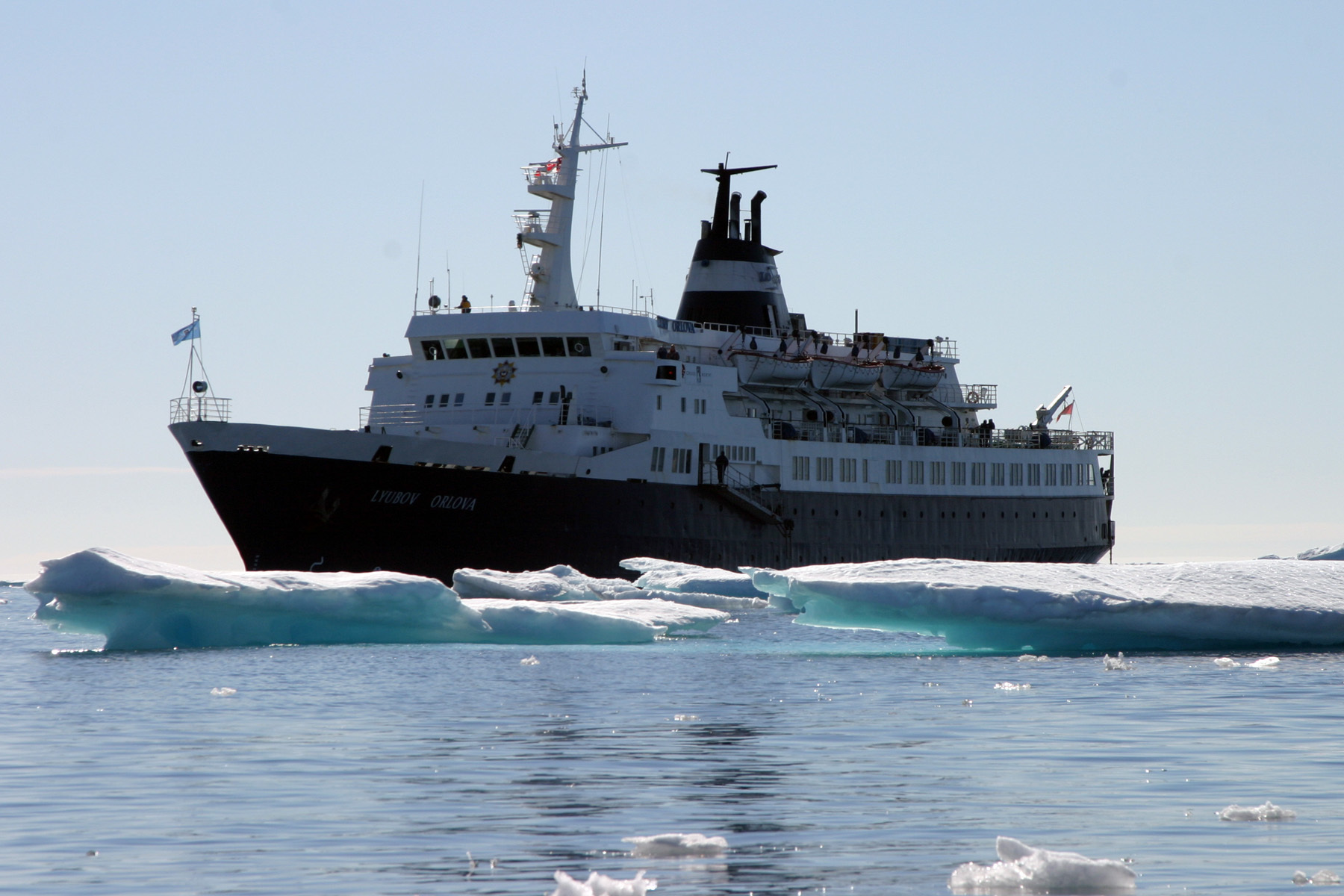 The Lyubov Orlova, photographed in Canada's Arctic during the 2007 summer cruise season. (Rick Derevan photography)