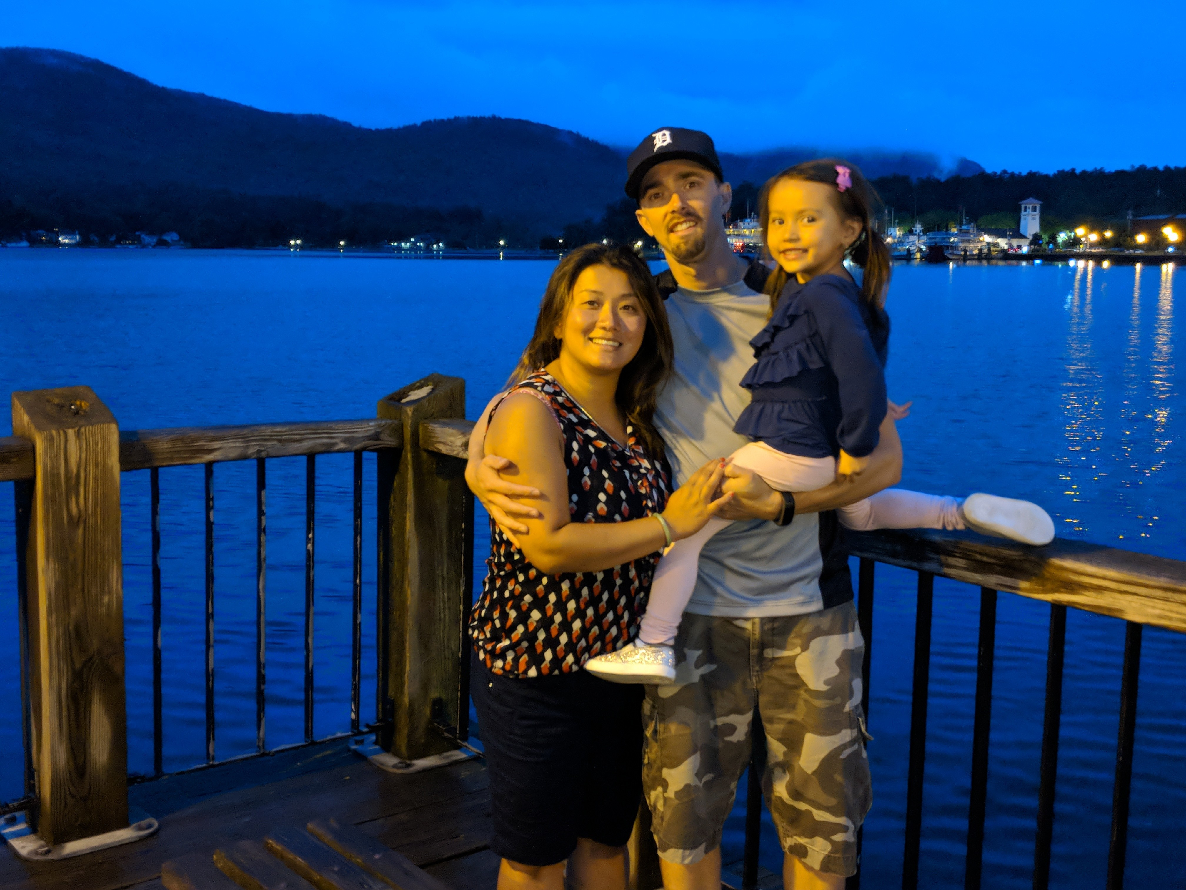 Josh de Bock, shown here with his wife, Loan, and daughter Mai-Linh, joined the OPP in 2010. He was 38 years old when he died by suicide last August. (Submitted by Loan de Bock)
