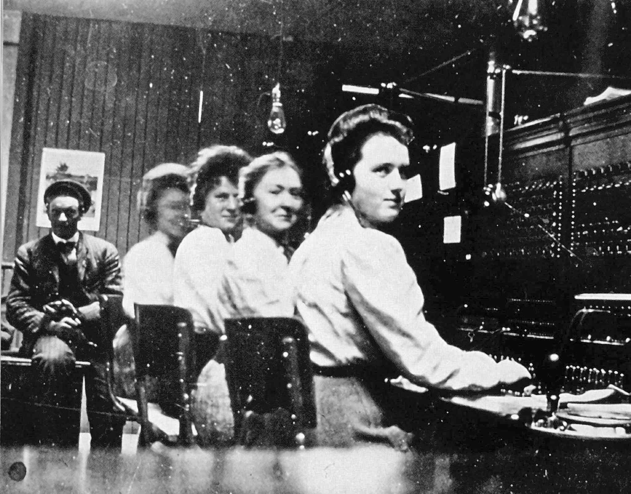 Telephone operators known as the Hello Girls were the first to walk out on May 15, 1919. (Western Canadian Pictorial Index)