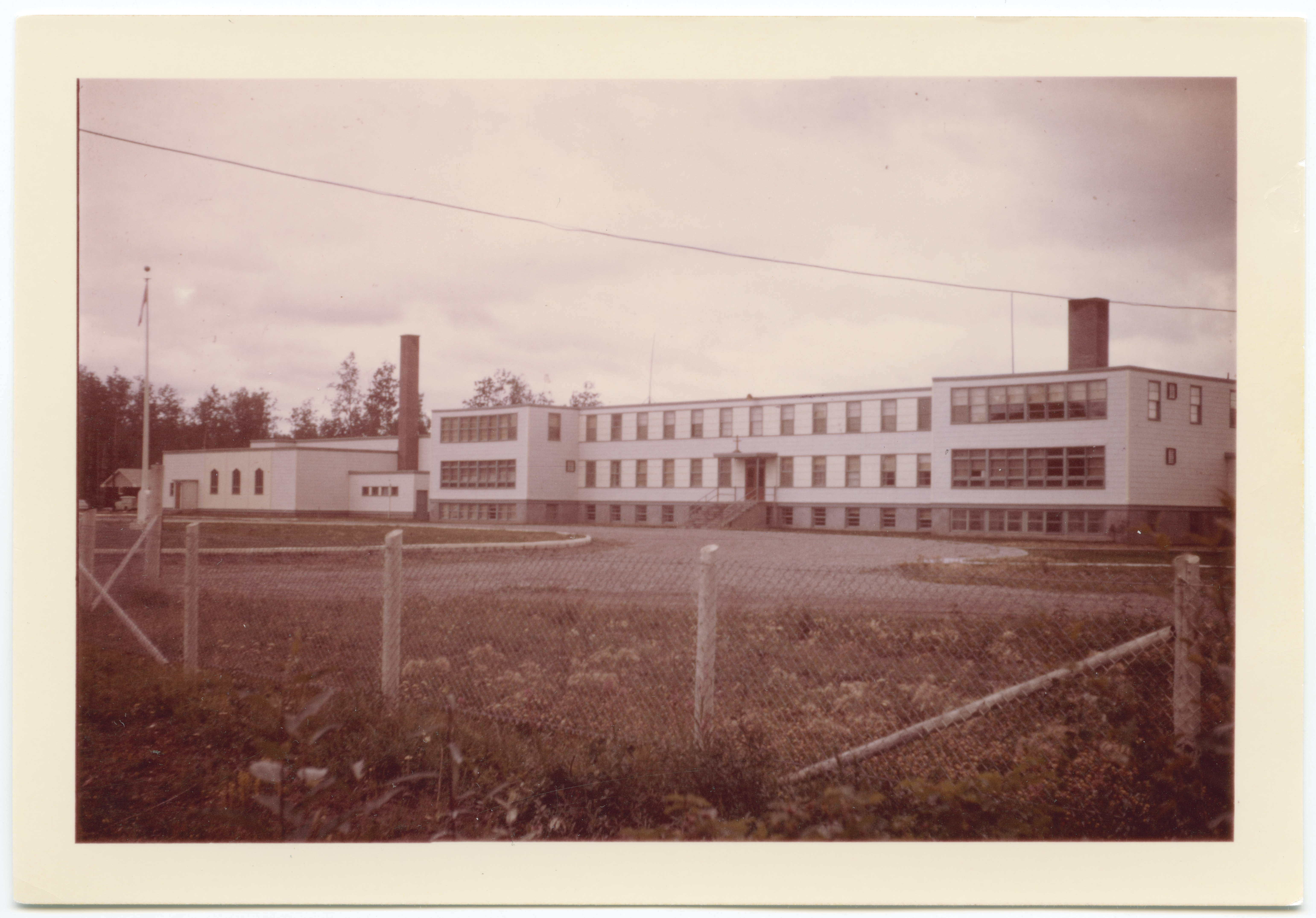 The Lower Post residential school, where Loverin's mother was a student, closed in 1975. Stories of abuse are common among the school's former students. (Yukon Archives)