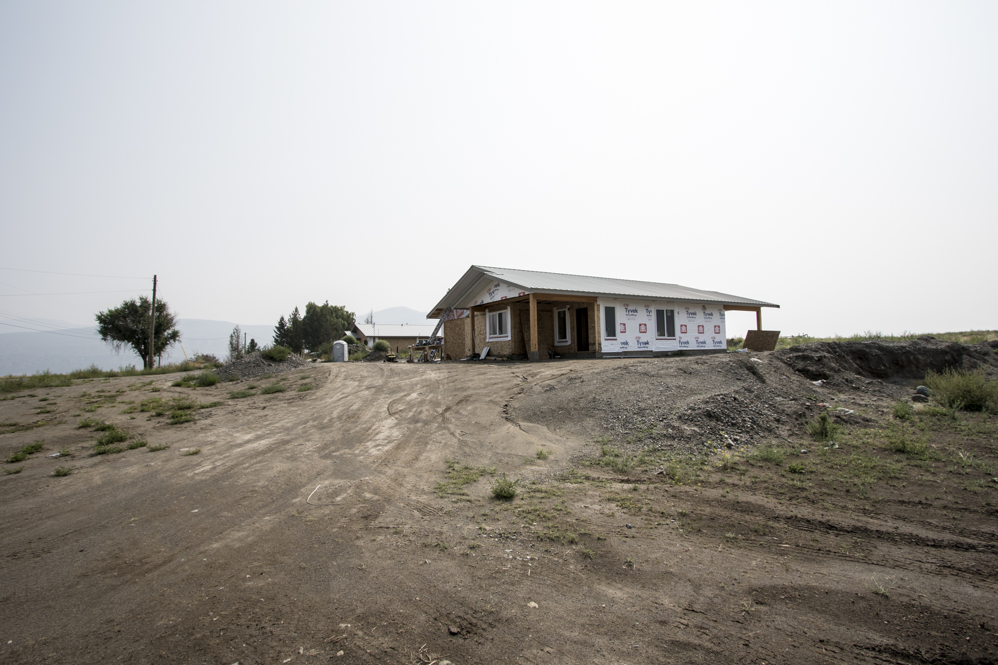 The Ashcroft Indian Band has spent nearly $3 million on reconstruction, rebuilding eight of the twelve homes that were destroyed. (Tina Lovgreen/CBC)