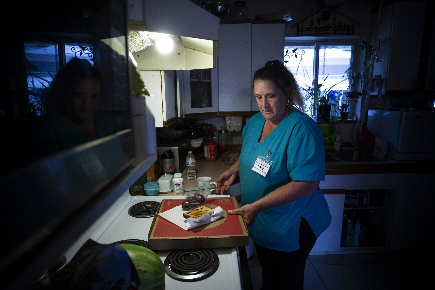 Jenny Kaastra, based in the Fraser Valley, works three jobs as a care worker. (Ben Nelms/CBC)
