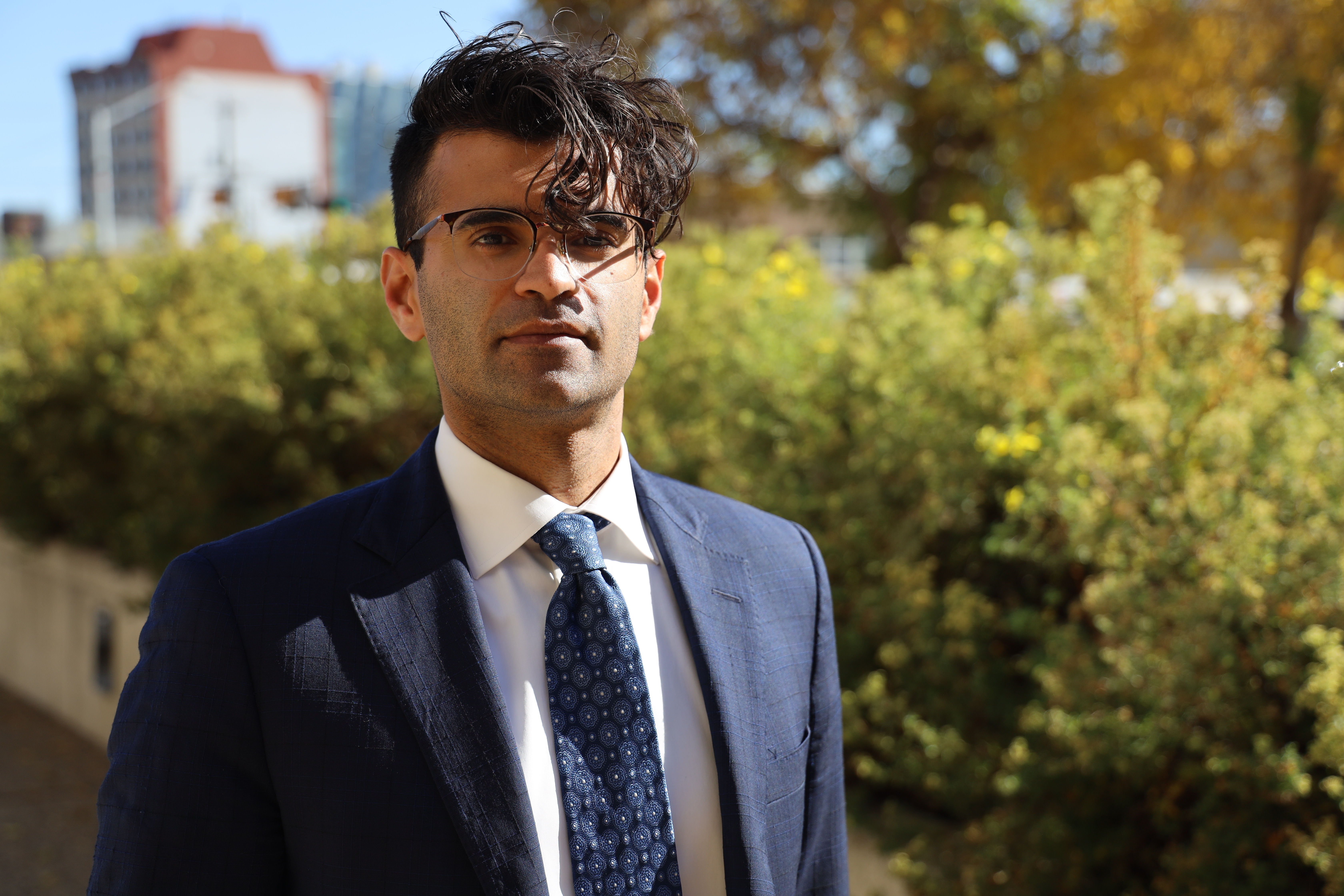 Avnish Nanda is an Edmonton-based lawyer. He is representing the men who allege they were abused by Dominey in a civil case in Edmonton's Court of Queen's Bench. (Sam Martin/CBC)