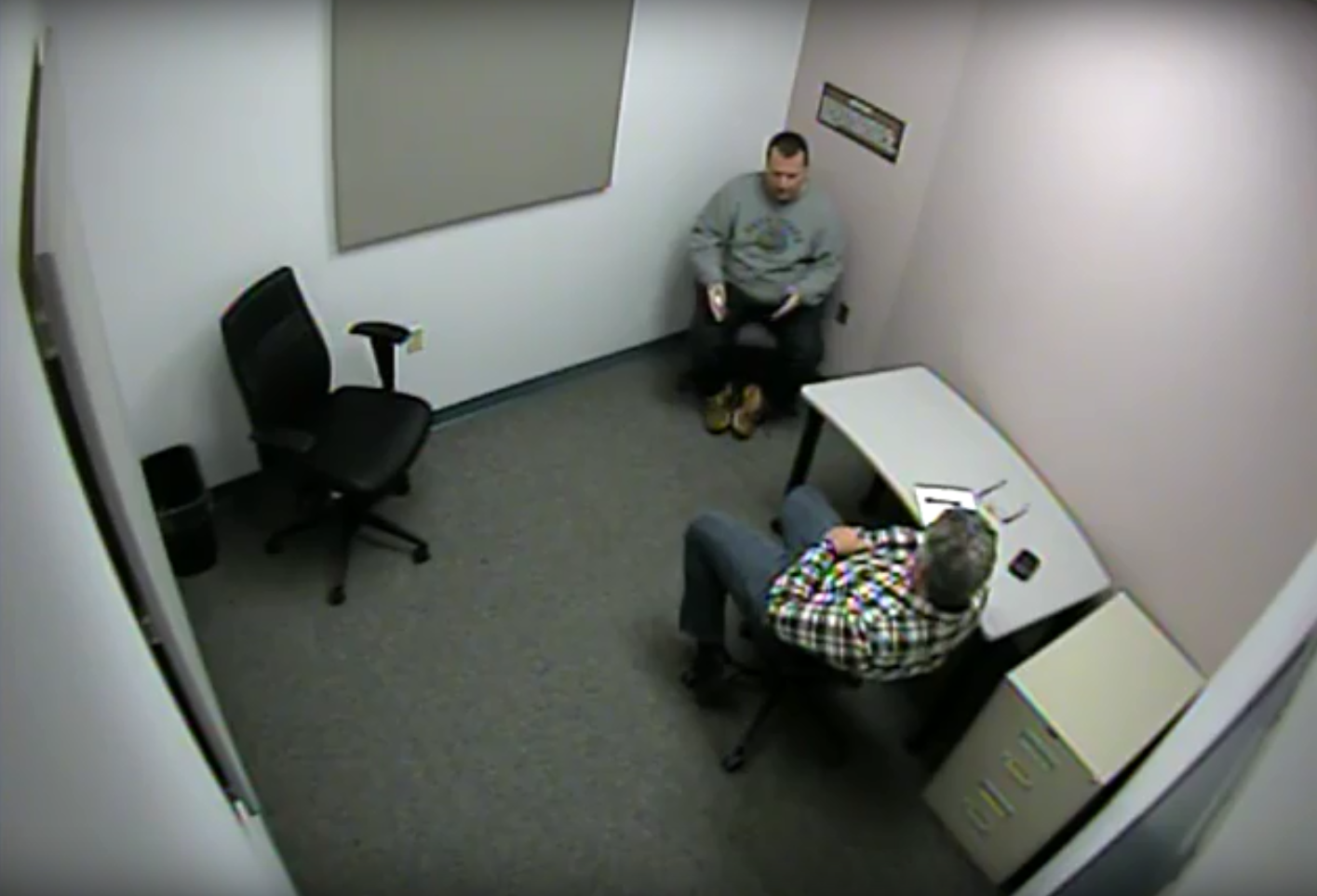 Paramedic John Bibeau, top, gave a witness statement to police expressing concerns about what officers told him transpired in the cell in the moments leading to Faqiri's death. (Kawartha Lakes Police Service)