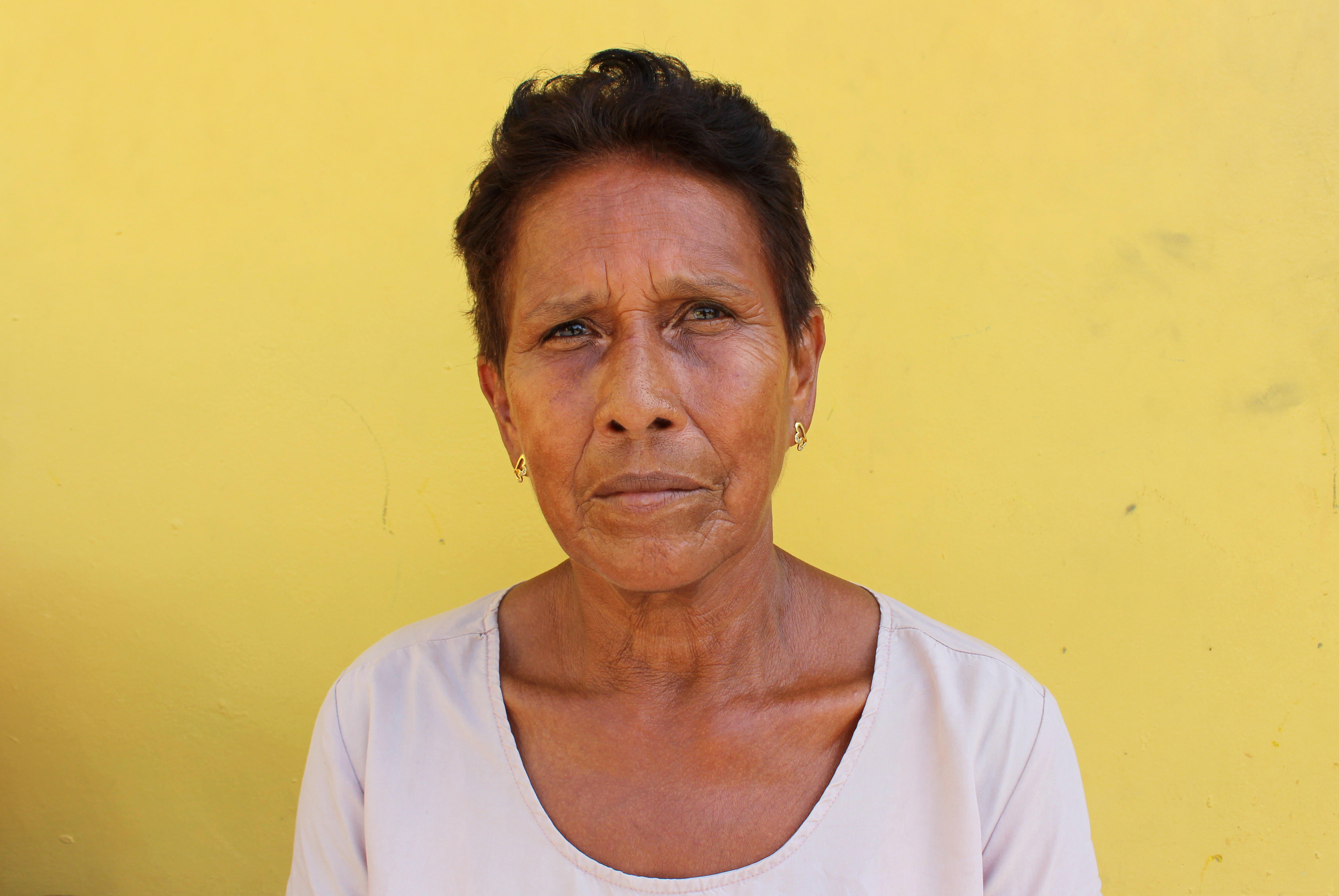 Reina Gladys Guevara now lives in El Progreso, an hour's drive from the banana plantations where she worked for more than 20 years. (María José Burgos/CBC)