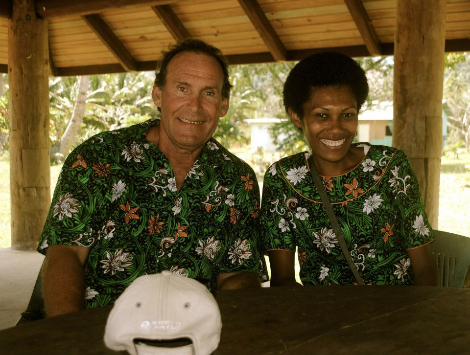 Krieger and his wife Millie bought land in a Fijian seaside town (Courtesy Peter Stevenson)