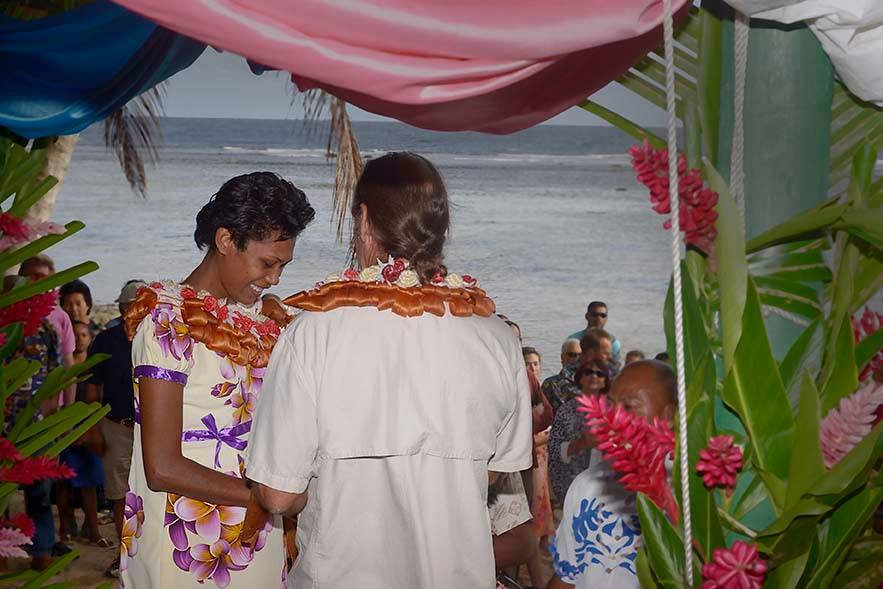 Krieger surprised his family back home in Canada when he married a Fijian woman. (Courtesy Peter Stevenson)