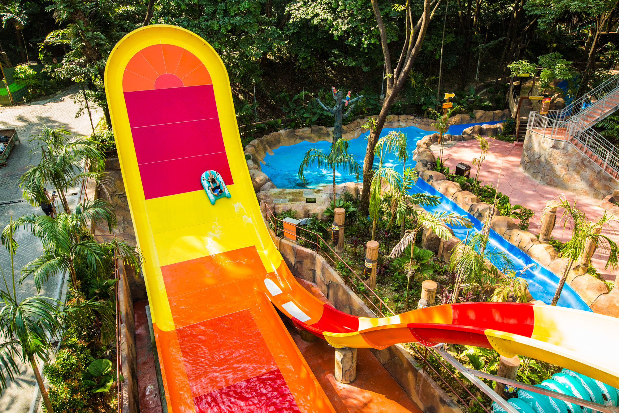 Emily Colombo helped design this Boomerango at the Sunway Lagoon water park in Kuala Lumpur. (Emily Colombo)