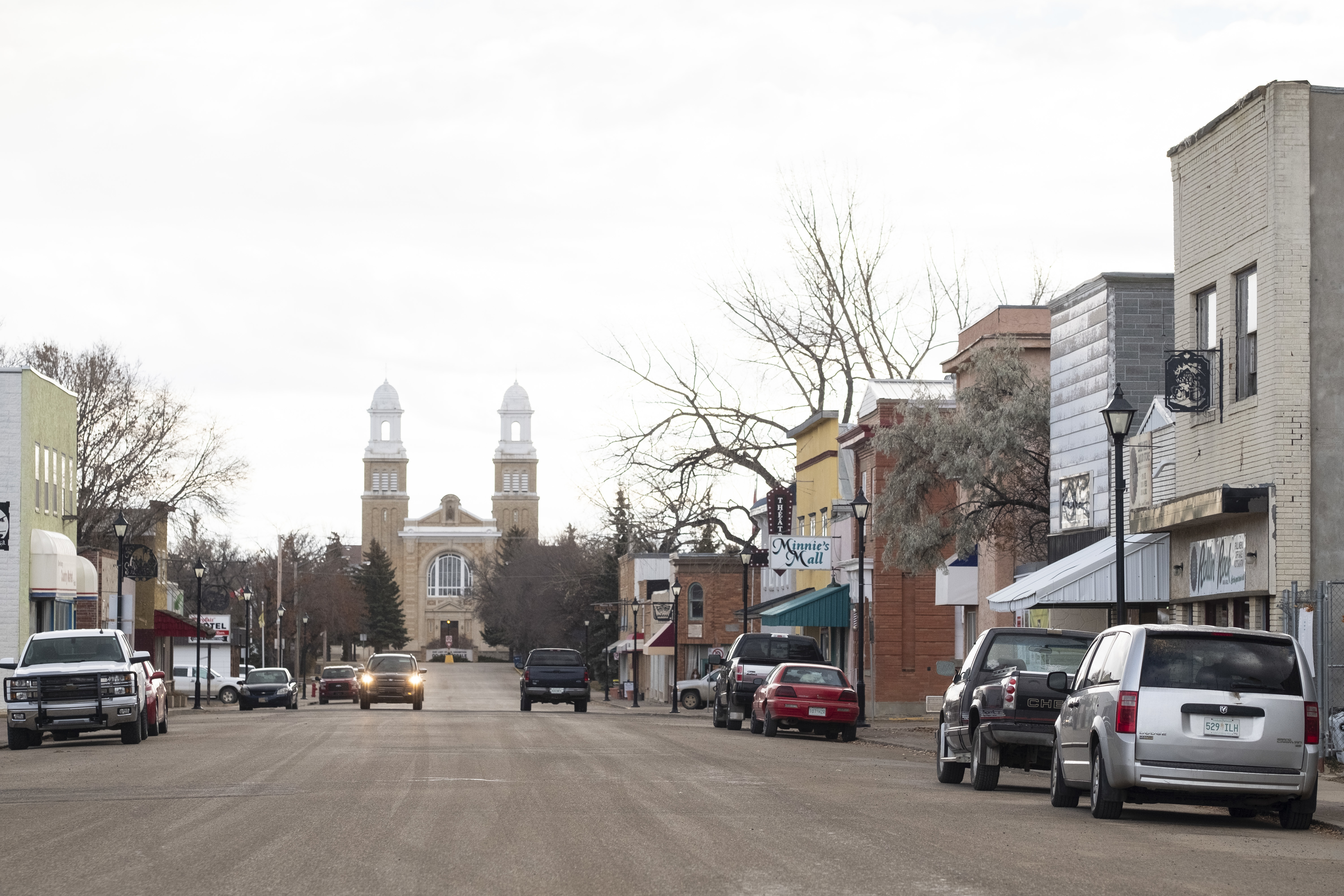 The main street of Gravelbourg, Sask., which is about 150 kilometres southwest of Regina. Photo: David Stobbe
