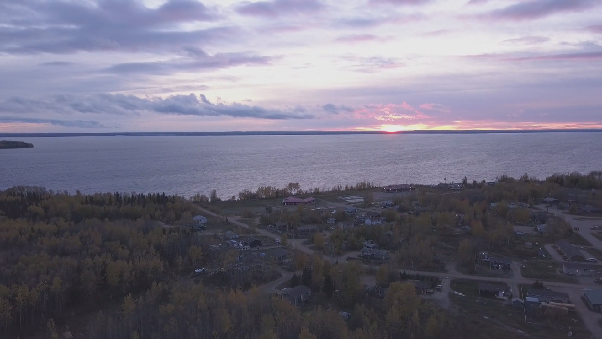 The Clearwater River Dene Nation sits on the eastern shore of Lac La Loche. (Timeframe Films Inc.)