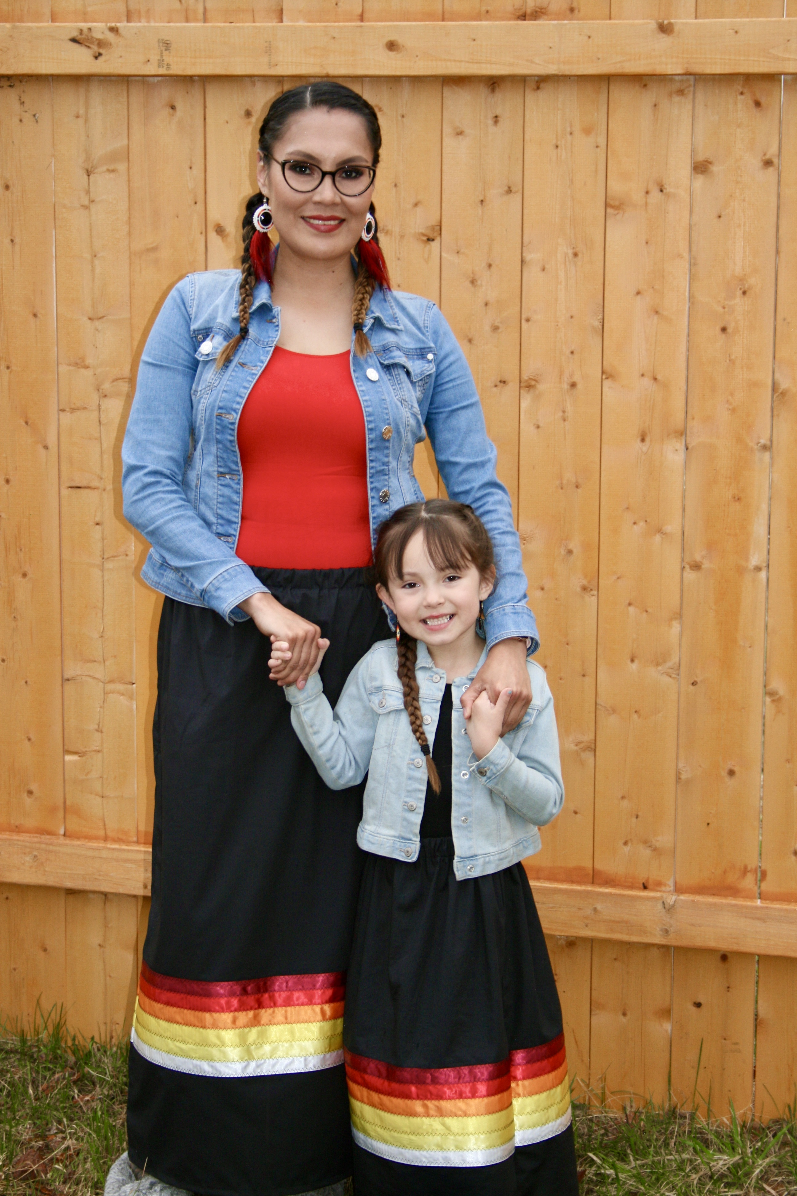Cora Lemaigre, 34, and her daughter, Sophia, 5, speak Dene in their home as much as possible. (Submitted by Cora Lemaigre)