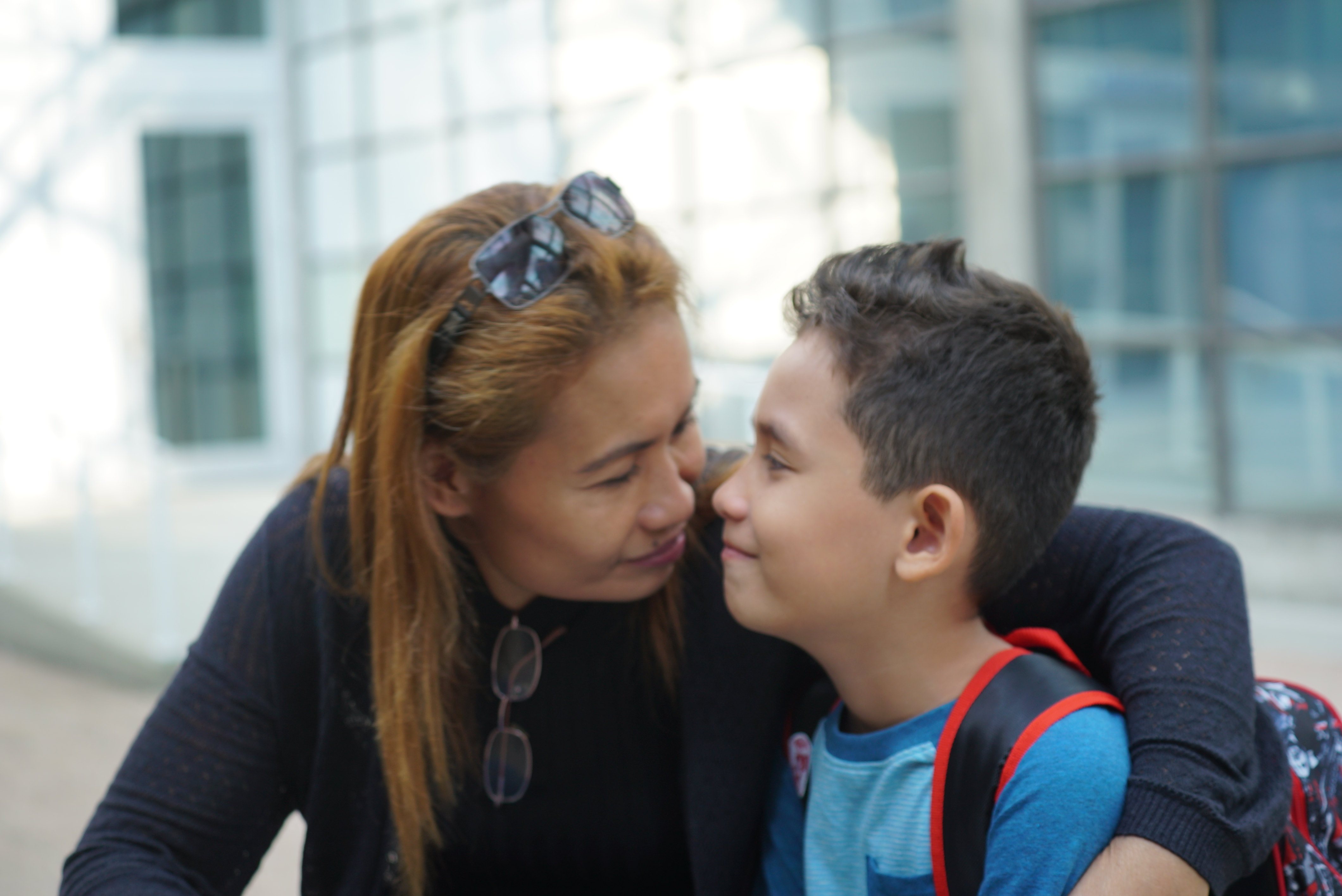Luzie Gammon and her son JJ are now settled in Vancouver. (CBC)