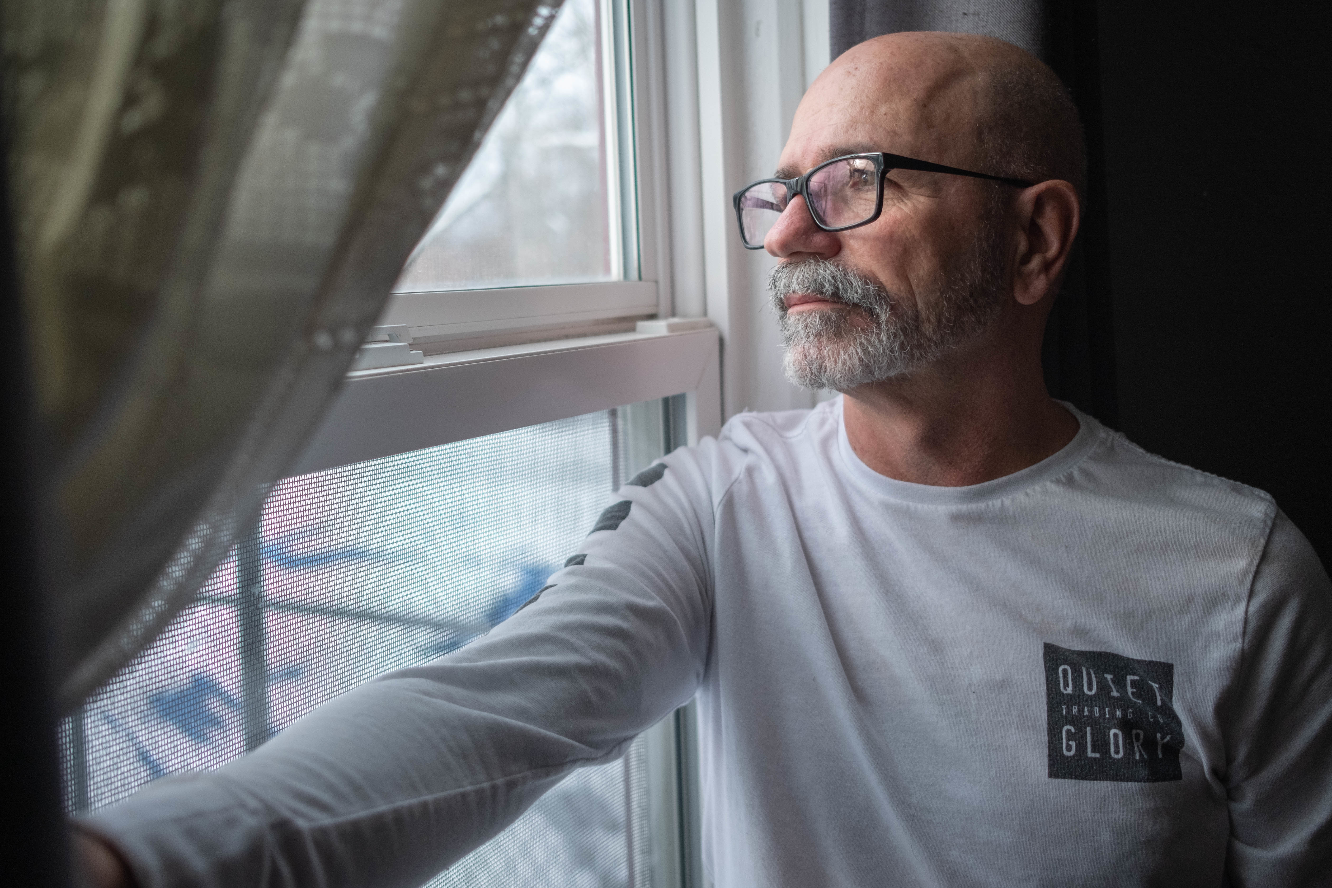 Richard Martell is shown at his home in Falmouth, N.S. (Robert Short/CBC)