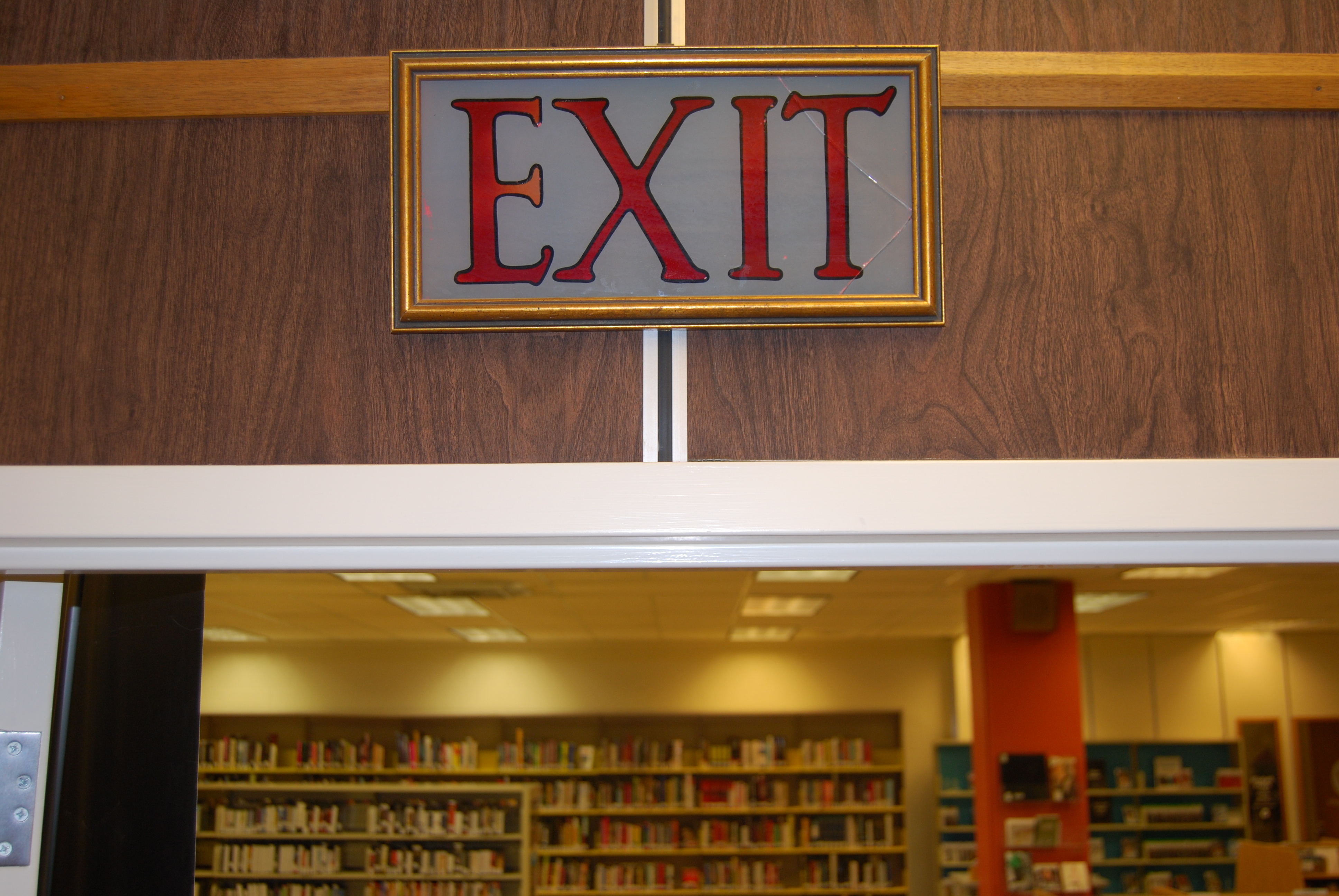 The local history room at the Saskatoon Public Library has this sign from the Capitol. (Guy Quenneville/CBC)