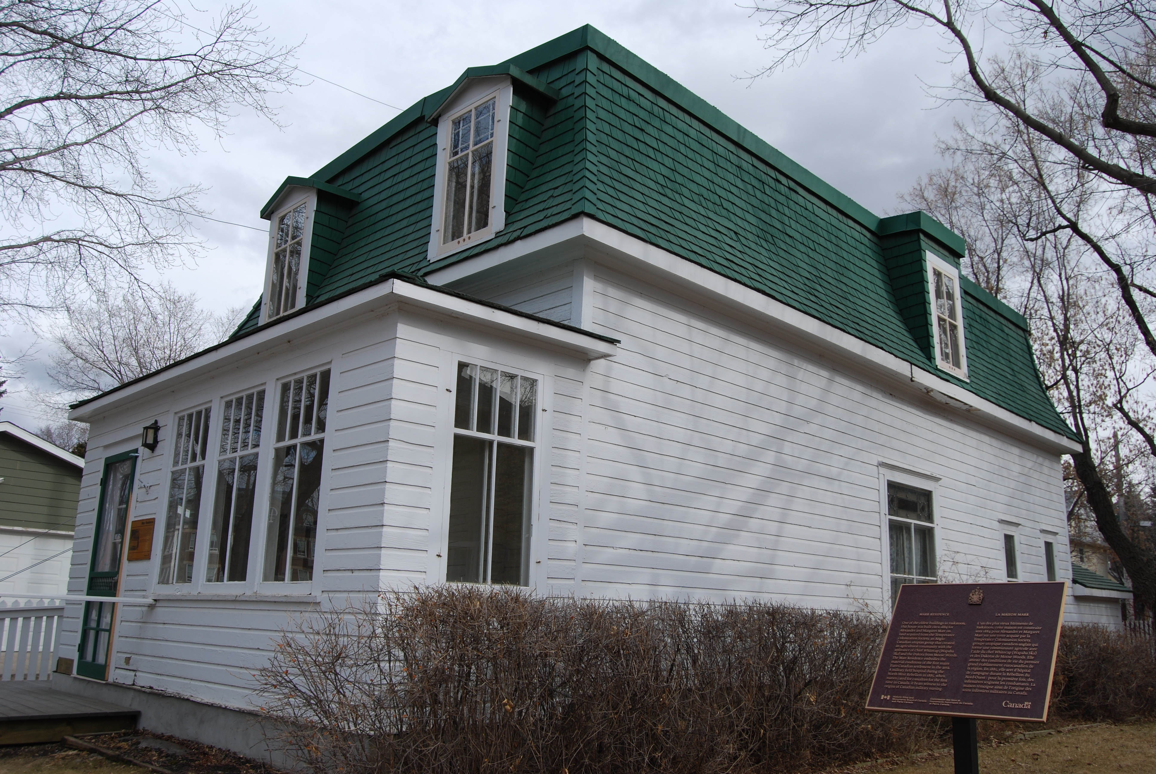 Just a year shy of the Capitol demolition, three properties were recommended for protection, including the Marr Residence. It's the oldest house in Saskatoon still standing on its original site. (Guy Quenneville/CBC)