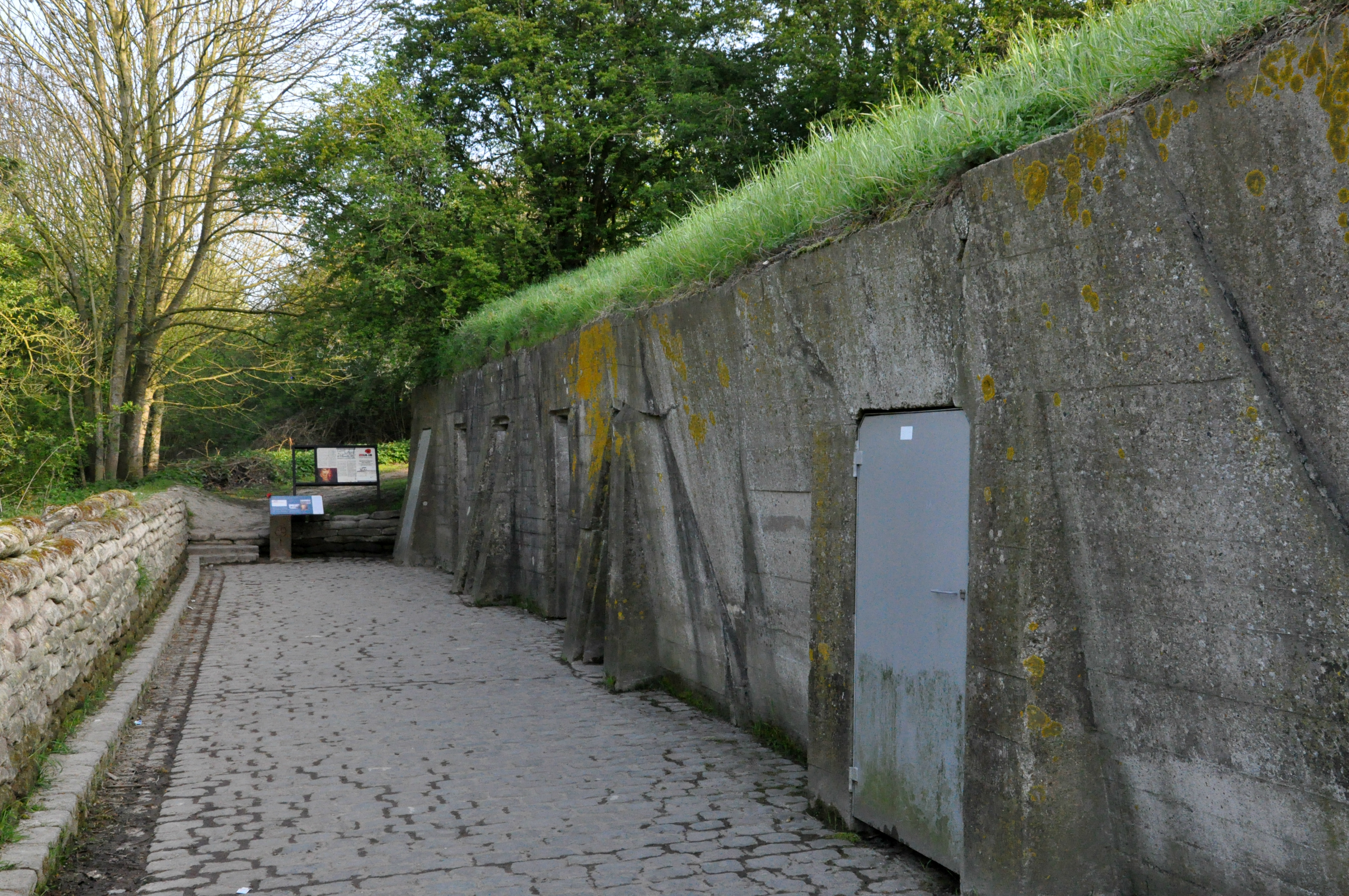 The dressing stations at Essex Farm where McCrae would have practised medicine during the Second Battle of Ypres. (Richard Woodbury/CBC)