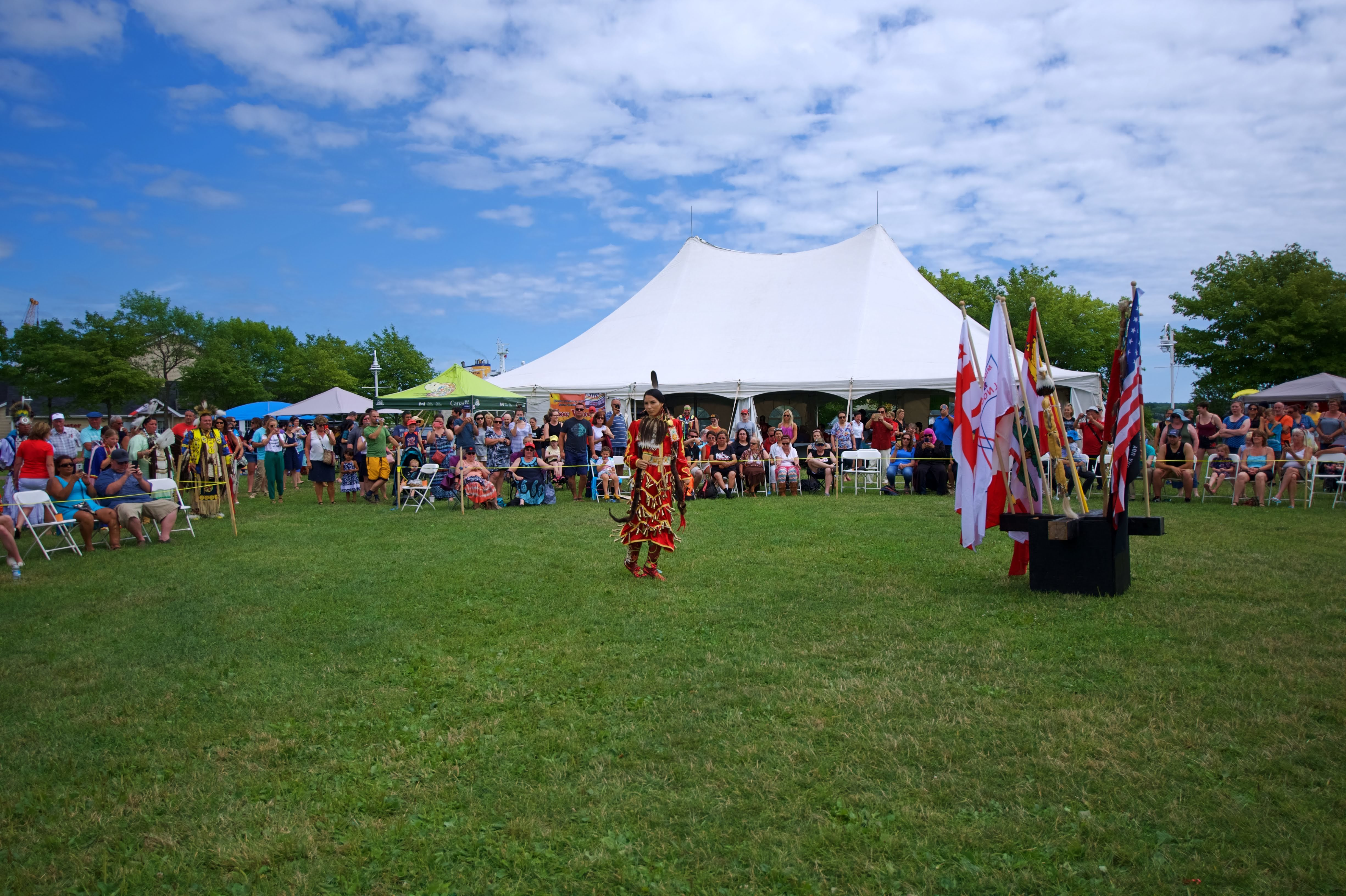 Within Epekwitk (Prince Edward Island) the Mi'kmaq had what are traditionally known as mawi'omi or gatherings, which are commonly known as powwows. The powwow trail begins in Scotchfort, one of the three Abegweit First Nation reserves, at the beginning of June. ​The Mi'kmaq Confederacy of P.E.I. powwow (shown here) was at the Confederation Landing Park on Aug. 14 and 15. (Patricia Bourque)