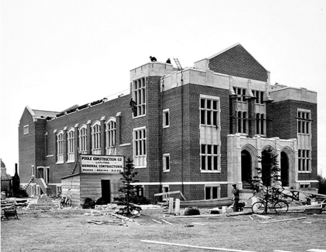 Darke Hall on College Avenue was completed in 1929 and became the new home for the Orchestral Society. (University of Regina)