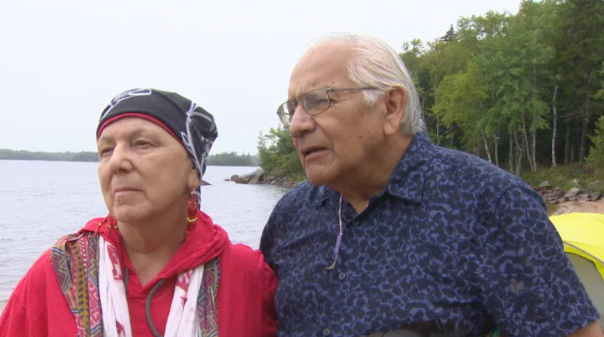 For years, Perley and his wife, Imelda Perley, have been teaching New Brunswick youth and university students about Wolastoqey culture. (Jonathan Collicott/CBC)