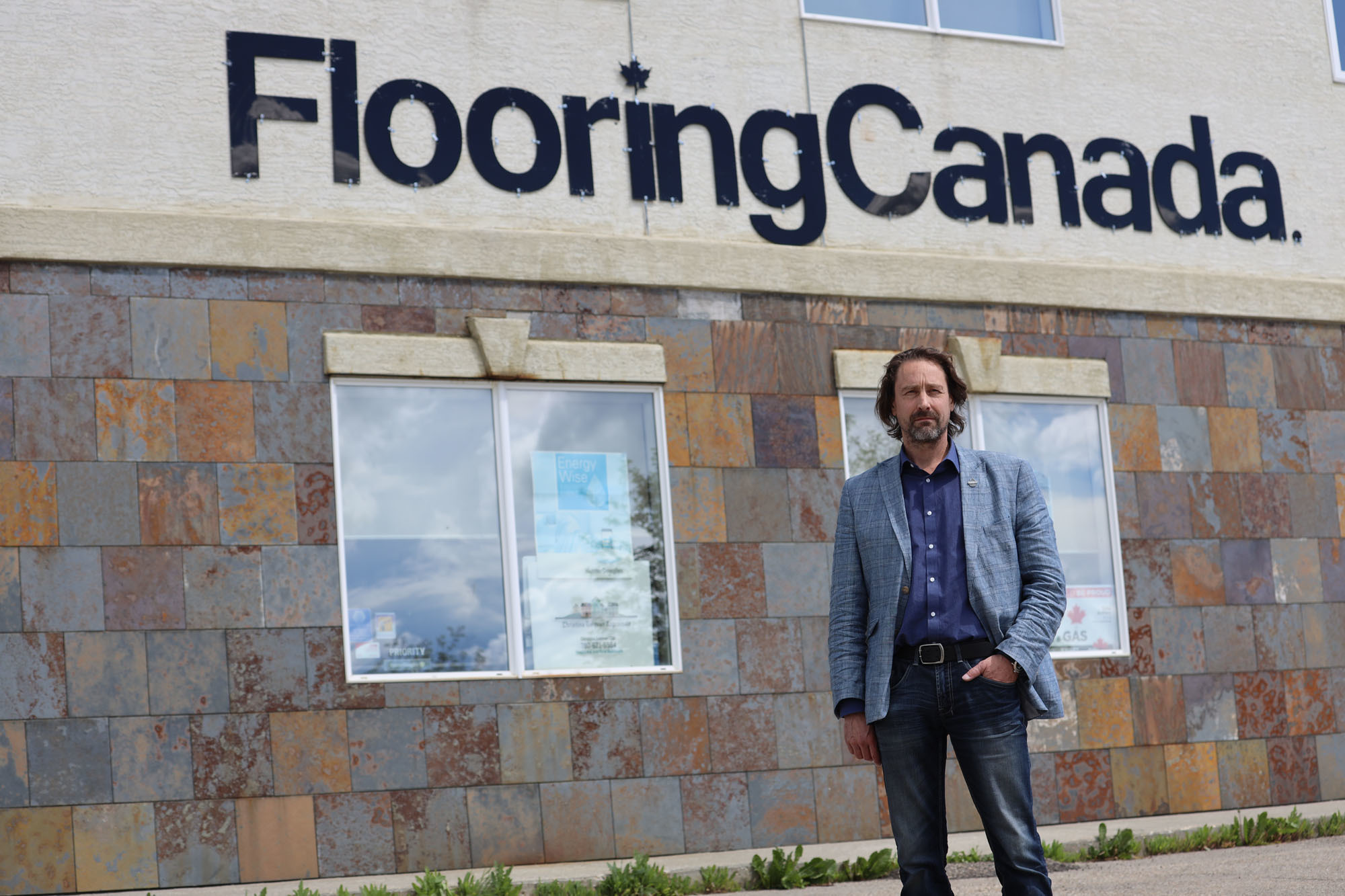 Douglas Galavan has operated his flooring business in Drayton Valley for 30 years. (Kory Siegers/CBC)