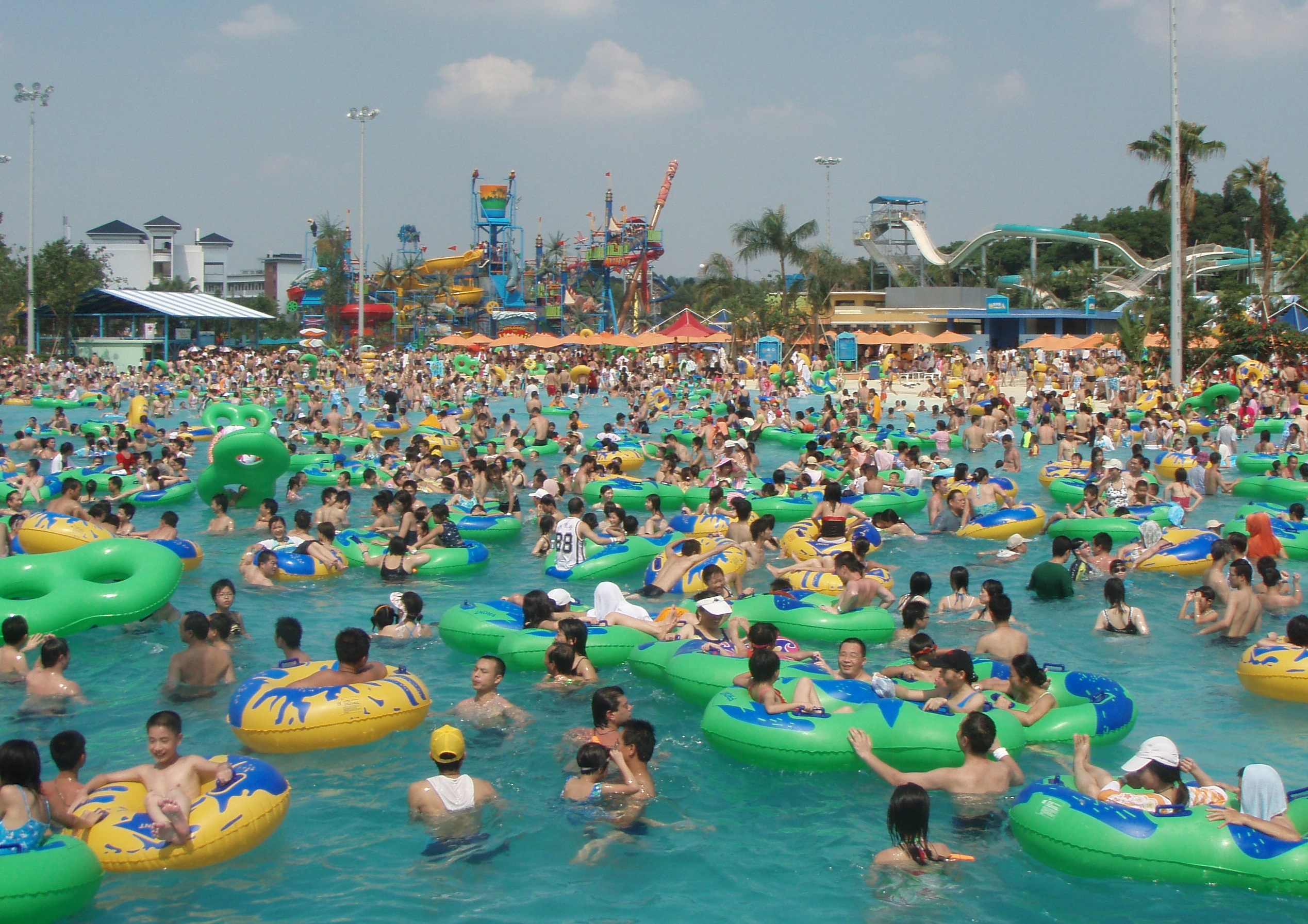 Some of the projects Colombo works on are all about capacity, like this water park in Guangzhou, China. (Emily Colombo)