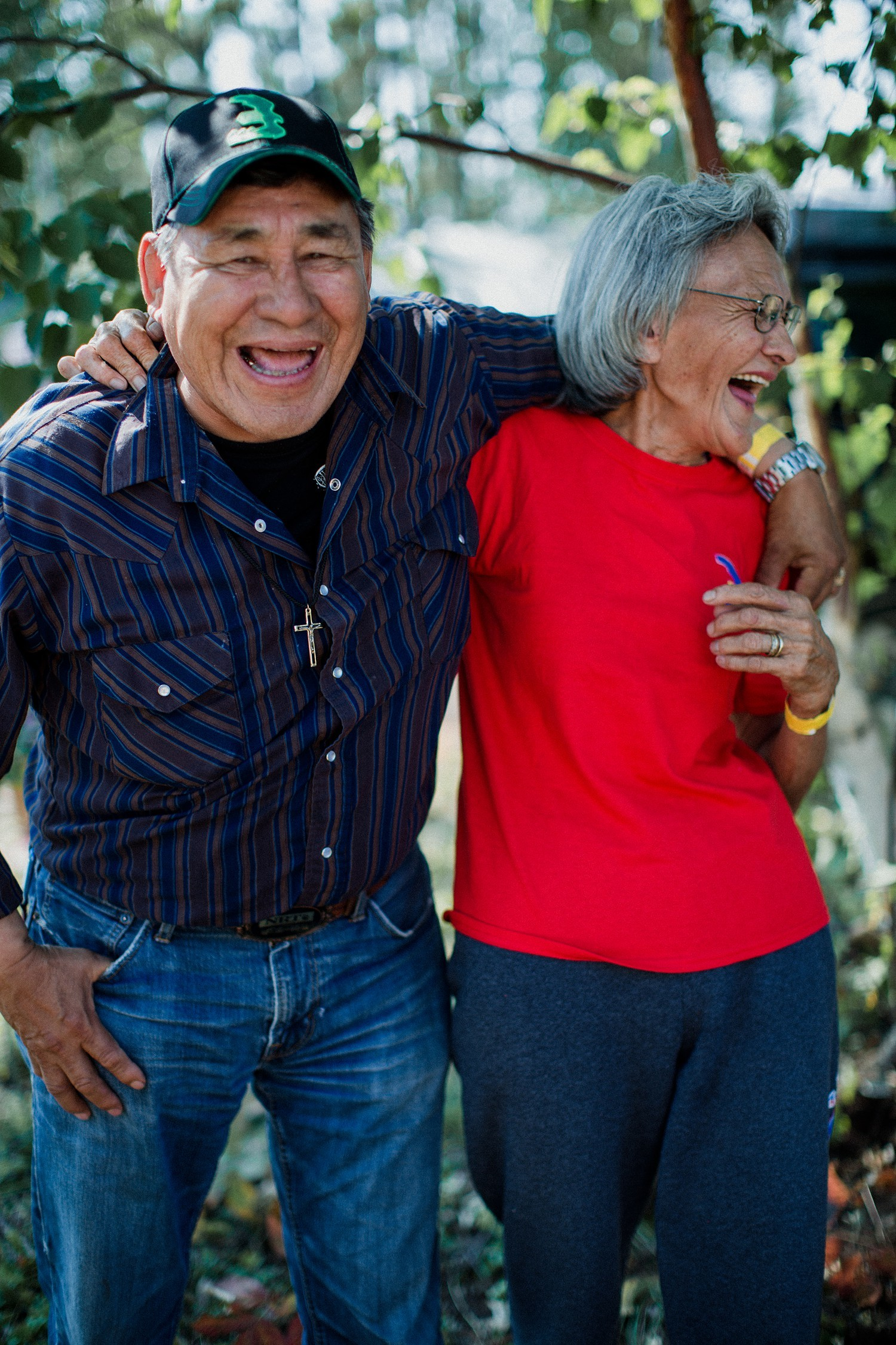Ovide and Yvonne Wolverine, English River First Nation, Sask. 2014. (Tenille Campbell)