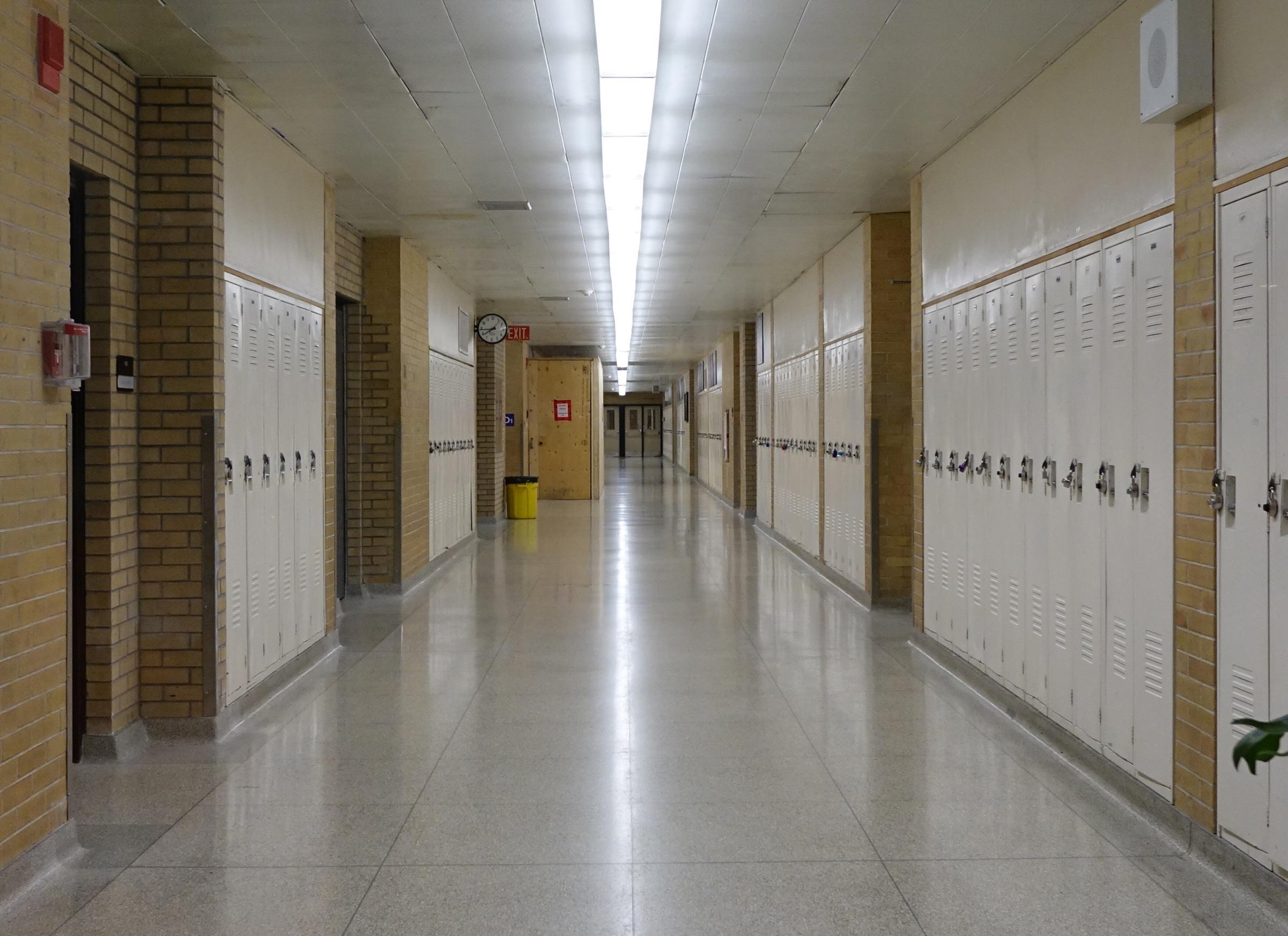 Inside Bell High School. (Stu Mills/CBC)