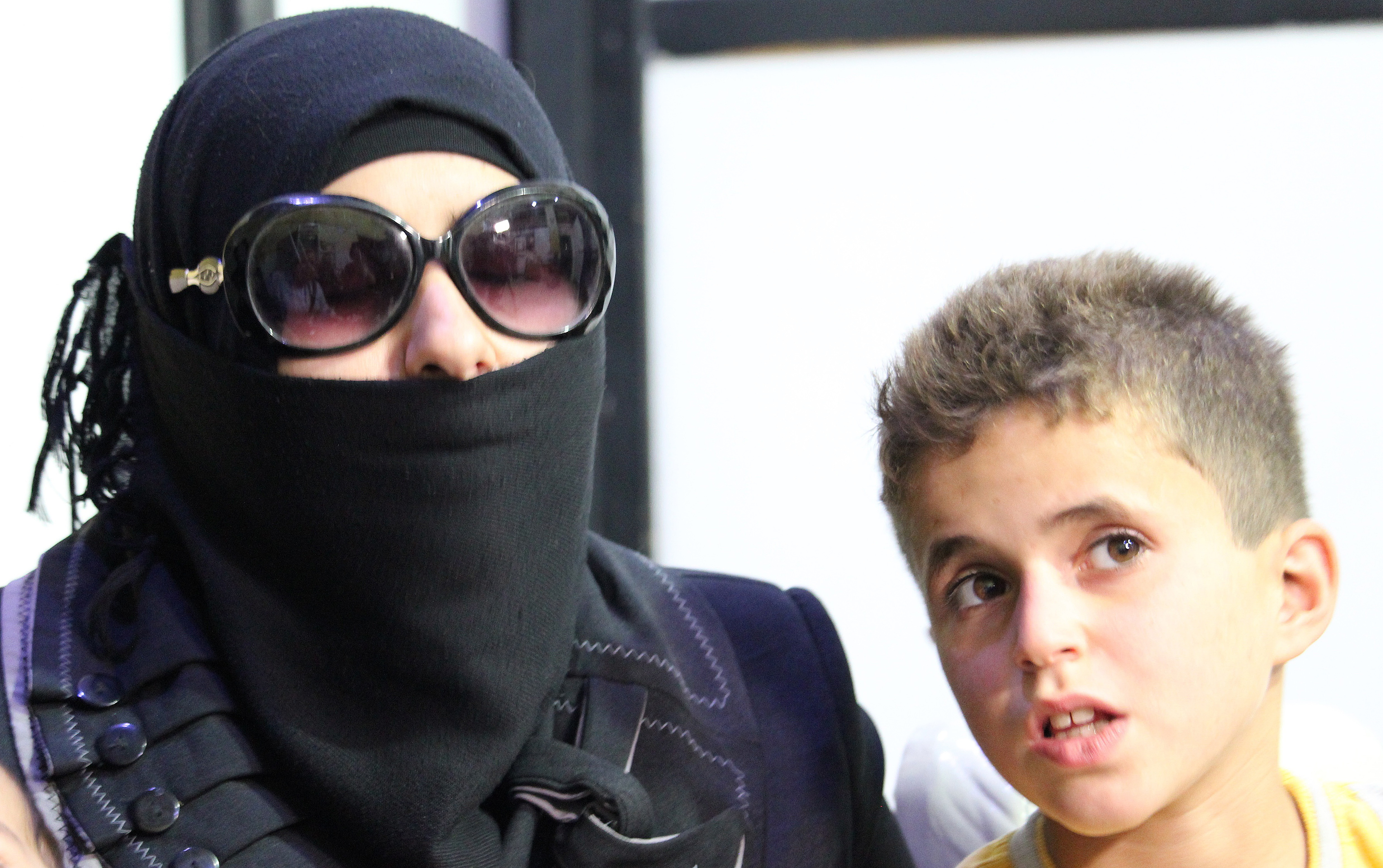 Rasoon Masmoud says her son Rateb, 10, has lacked good nutrition for so long that she is worried he has stopped growing. (Stephanie Jenzer/CBC)