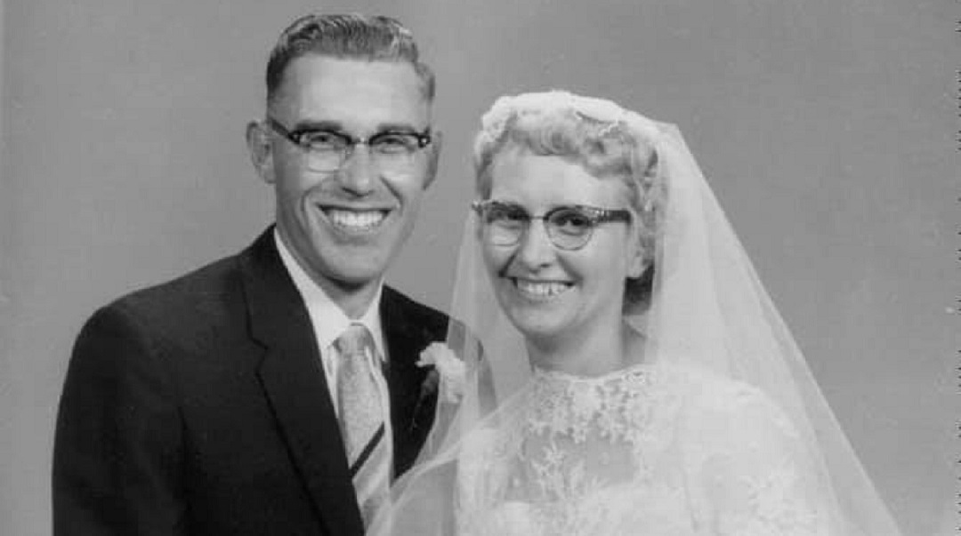 David and Irene Falk on their wedding day in 1958. (Submitted by the Falk family)