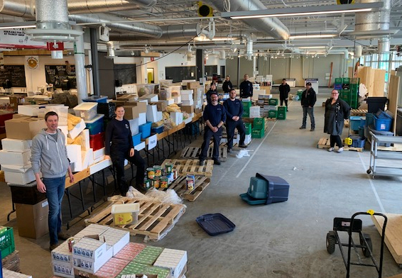 While the St. John's Farmers' Market was closed this spring to vendors and the public, it became a hub for food that was redistributed from schools. (Submitted by John Finn)
