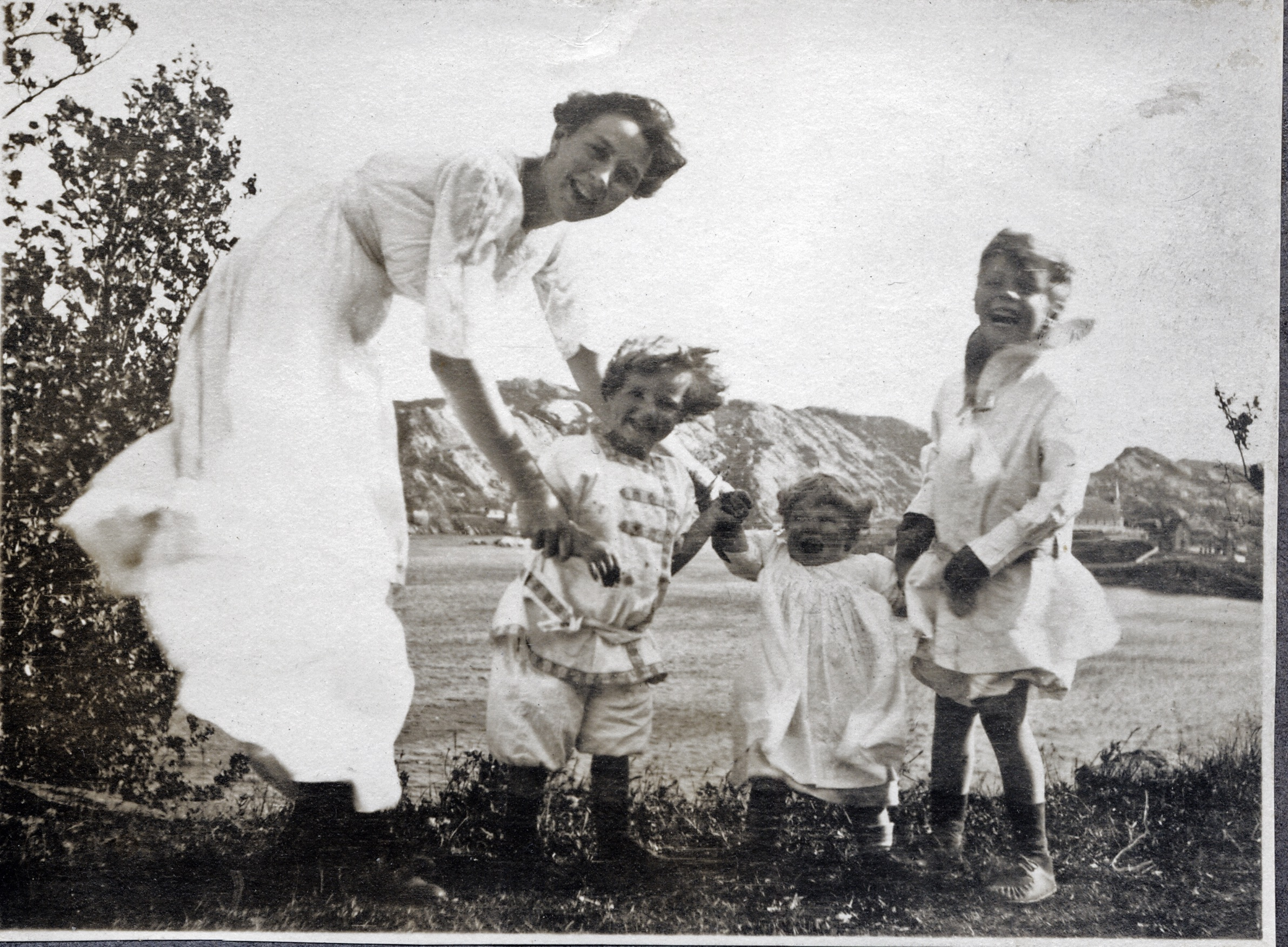 This photo from 1914 shows Kathleen Kent with her children, Kathleen, Clara and Rockwell, in Brigus. (Courtesy Kent/Whiting family)