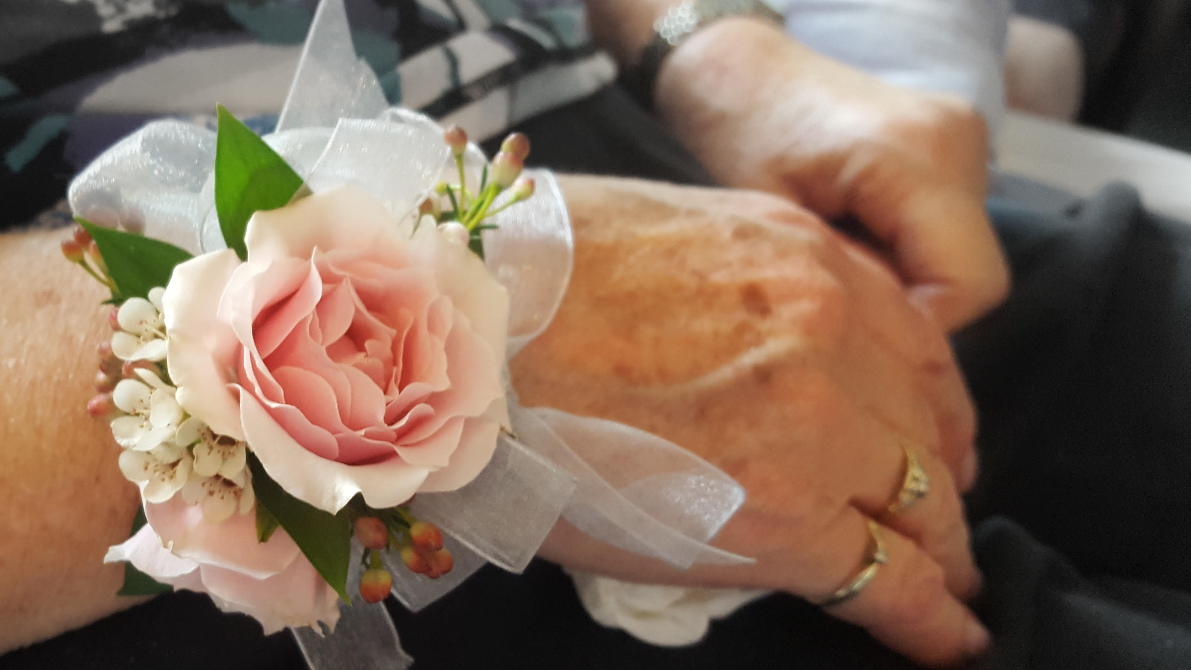 On the day of her death, Nowicki wore a corsage two of her granddaughters gave her. (Nowicki family)