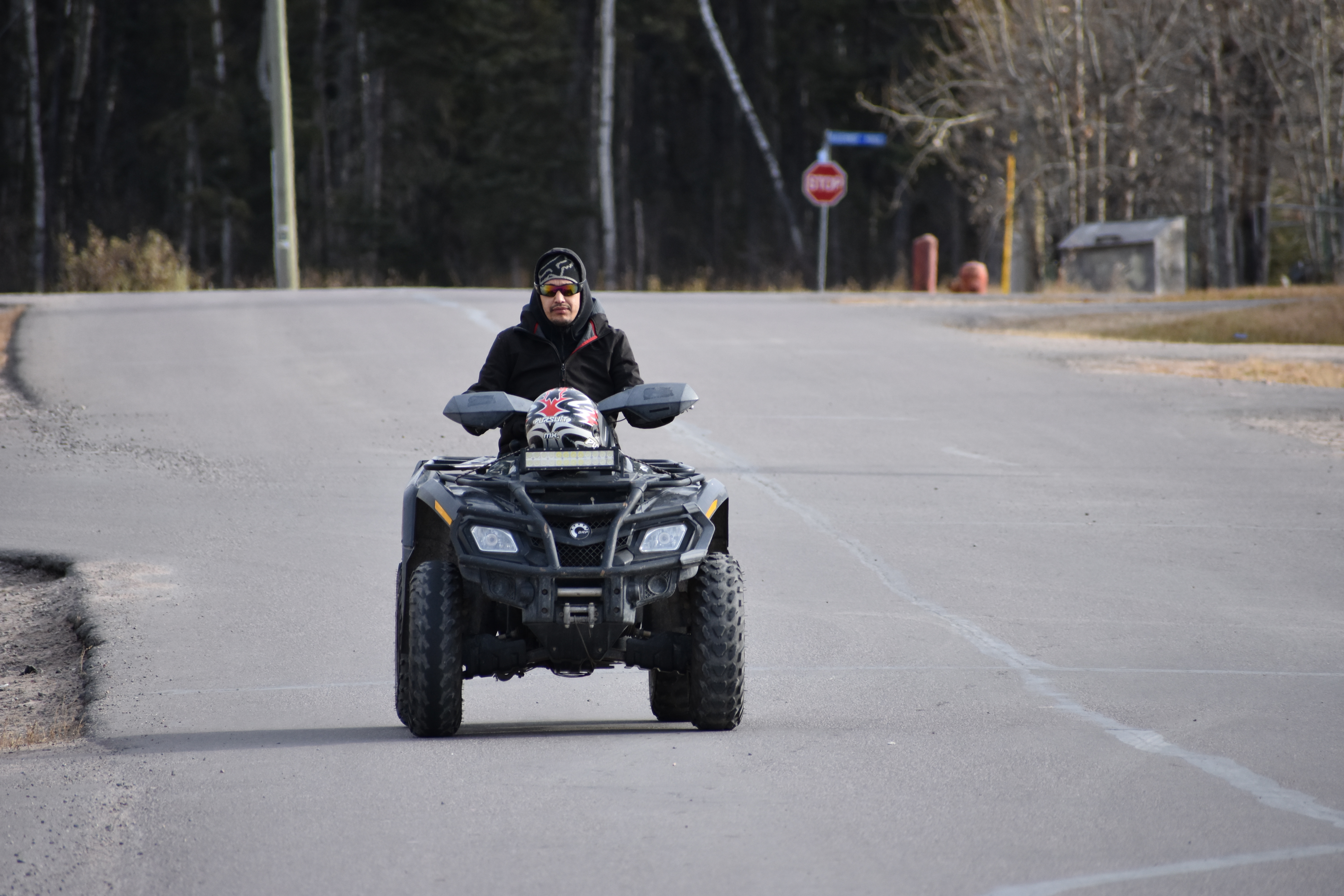 ATVs are just as common in town as cars and trucks. (Geneviève Normand/CBC Radio-Canada)