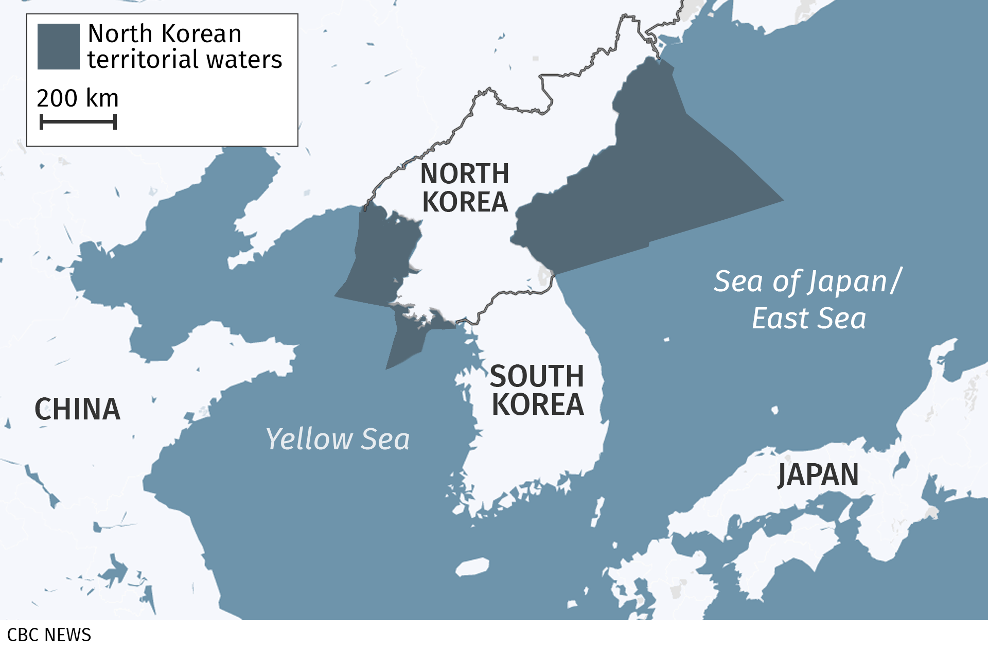 Under UN sanctions imposed in 2017, North Korea is not allowed to sell foreign fishing rights in its national waters. Canada is one of the countries helping enforce those sanctions.