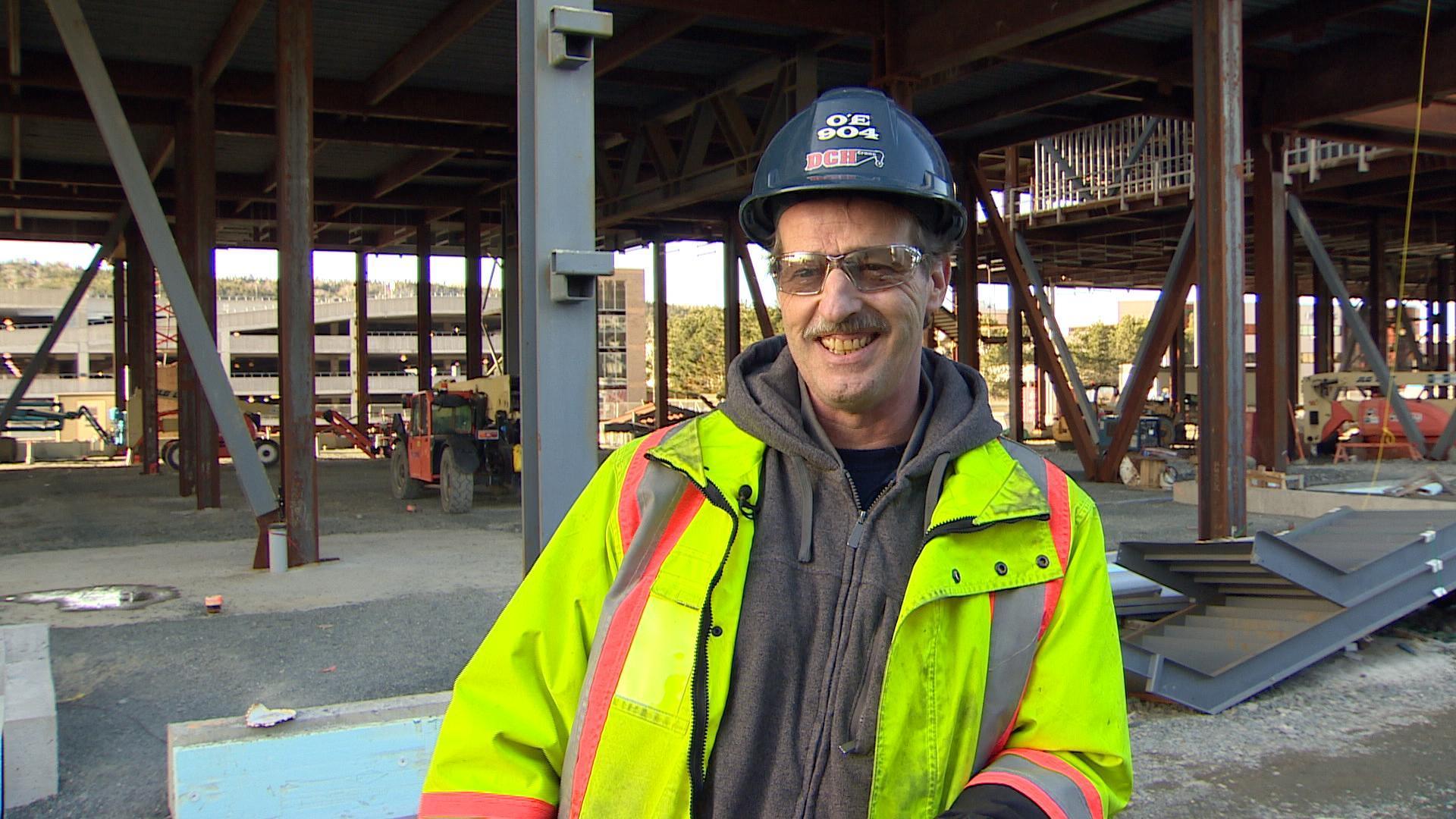 Tower crane operator Gary Lewis. (CBC)