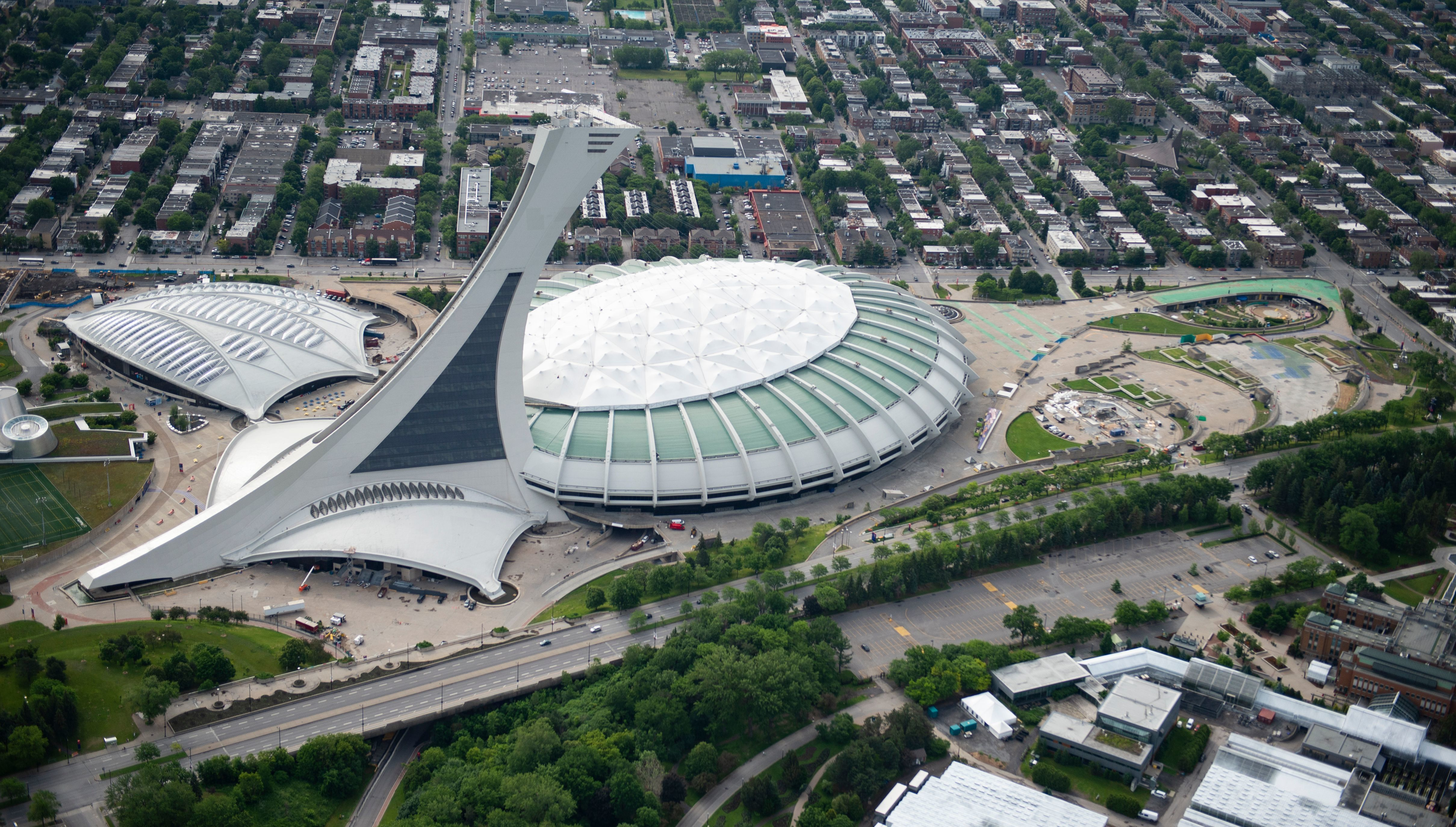 A common criticism of the Olympic Stadium is that it wasn't built for baseball, which isn't wrong, technically. (Sebastien St-Jean/AFP/Getty Images)