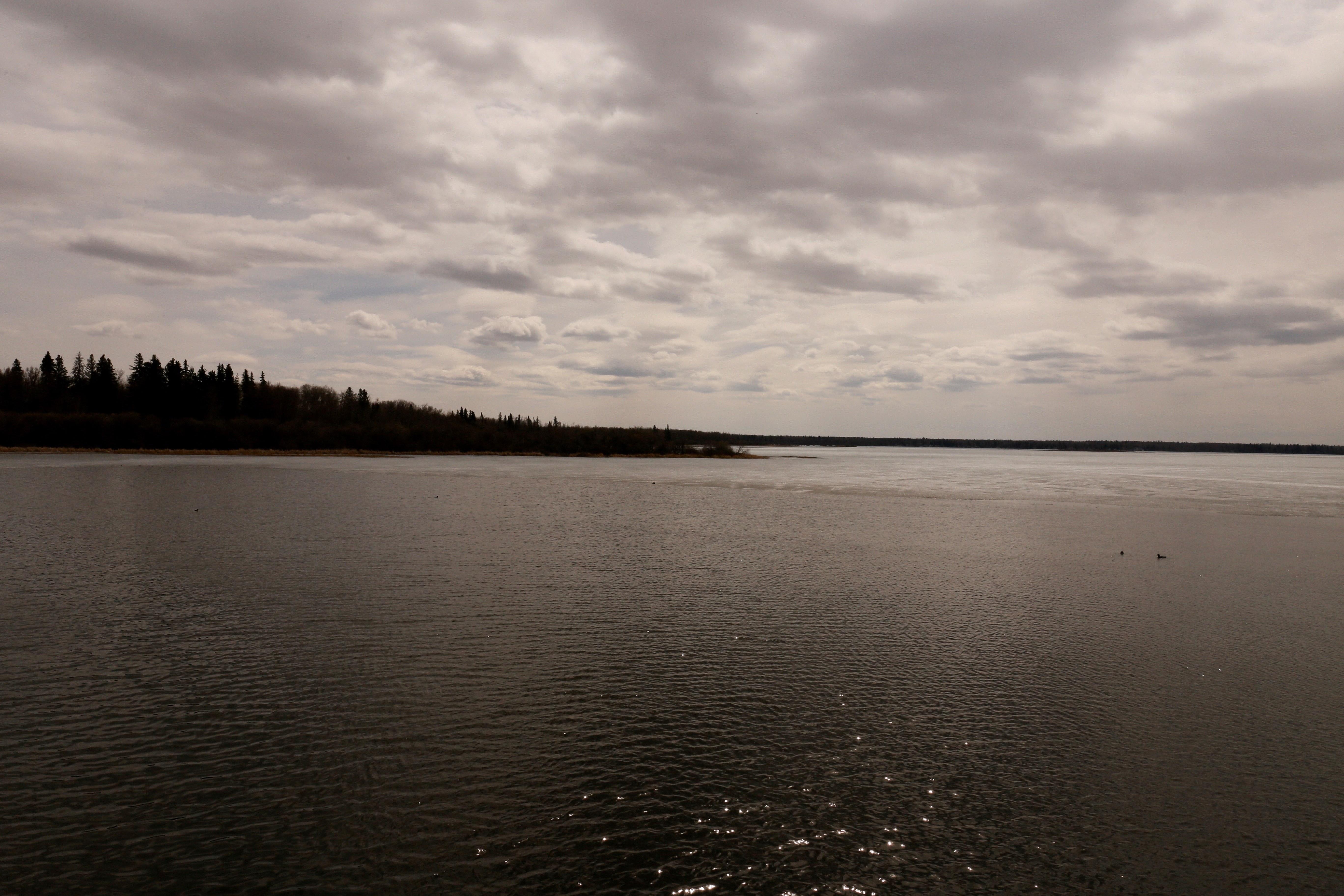 The lake that runs through Alexis Nakota Sioux Nation.