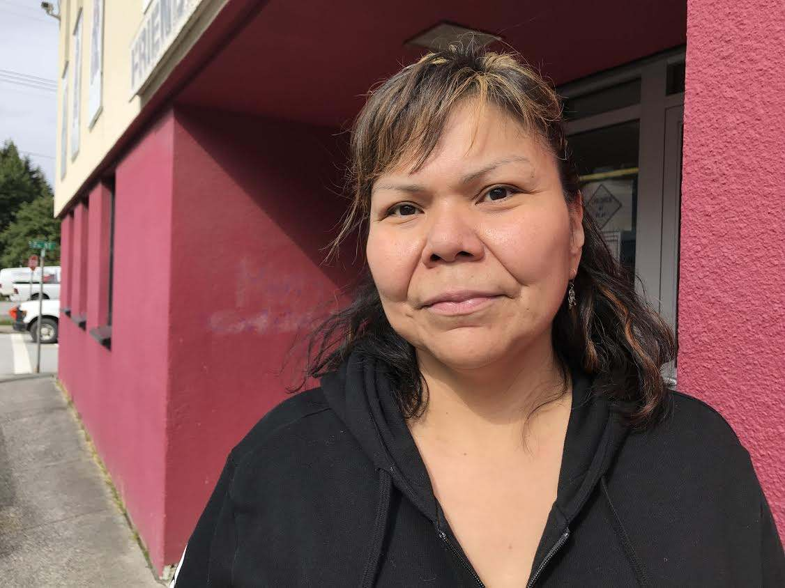 Glenna Johnson, 41, was surprised to discover Greyhound is no longer providing passenger service in northern B.C. (Audrey McKinnon)