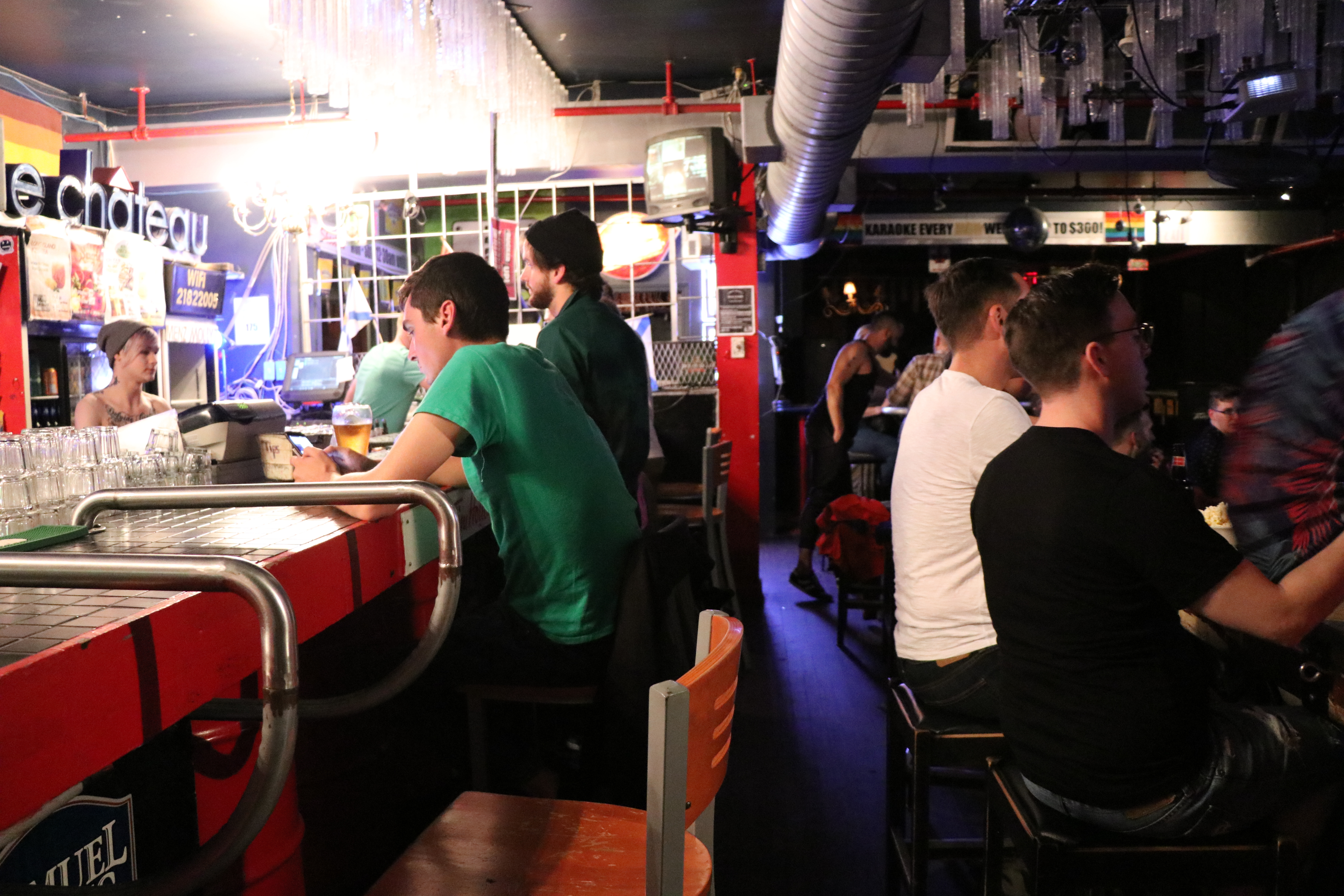 Menz & Mollyz Bar on Gottingen Street hosts drag shows. (Emma Davie/CBC)