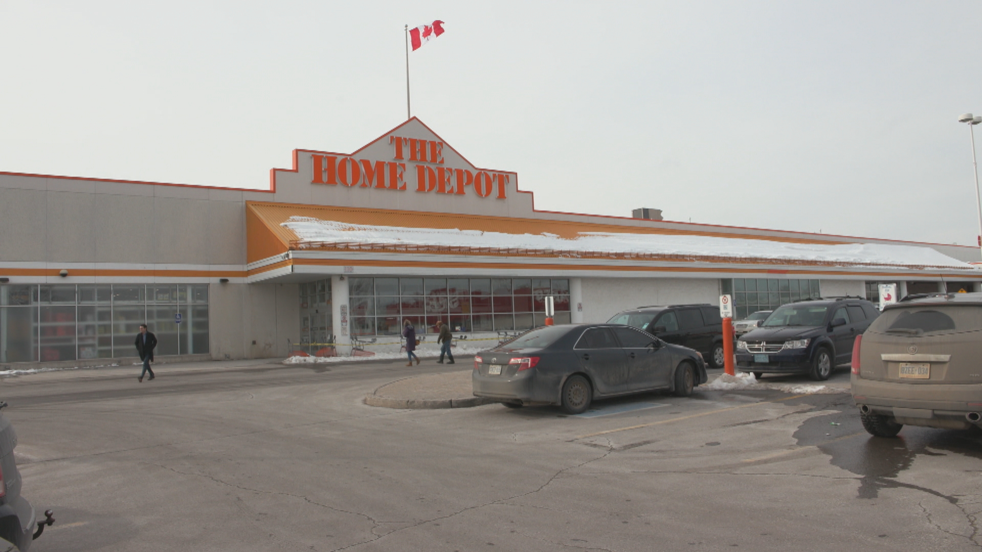 Sandra Finn was shot to death by her husband in this Home Depot parking lot in Peterborough, Ont. (Jean LeSavage/CBC)